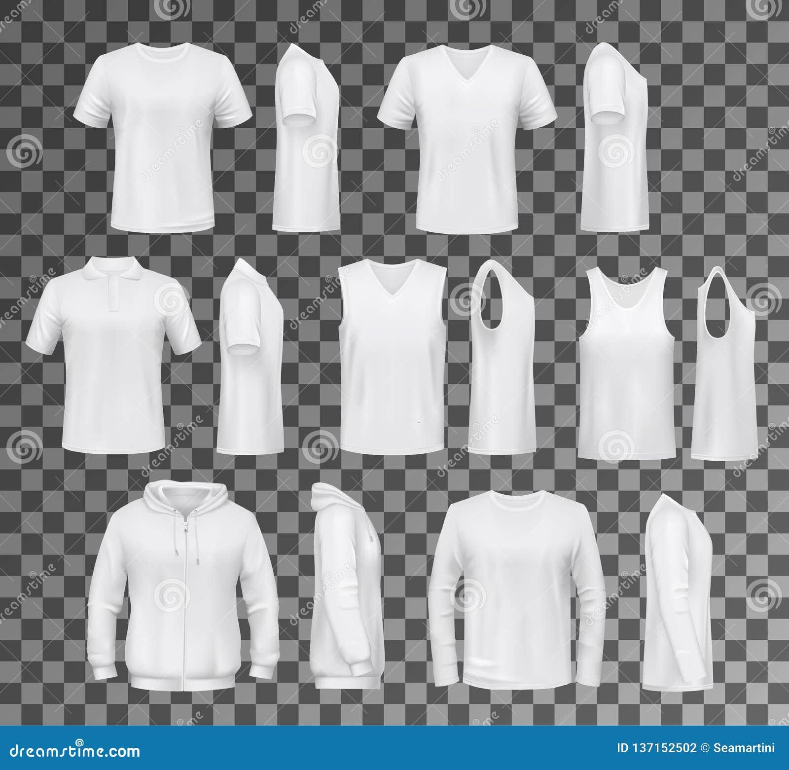 Manlig kläder isolerade blast, skjortor och hoodien
