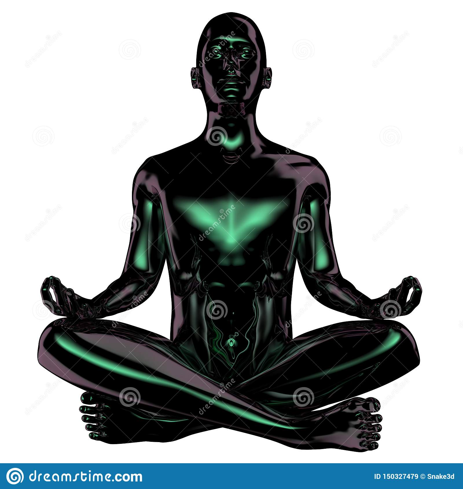 Manlotusblomma poserar det stiliserade svarta polerade diagramet zensymbolsbegrepp
