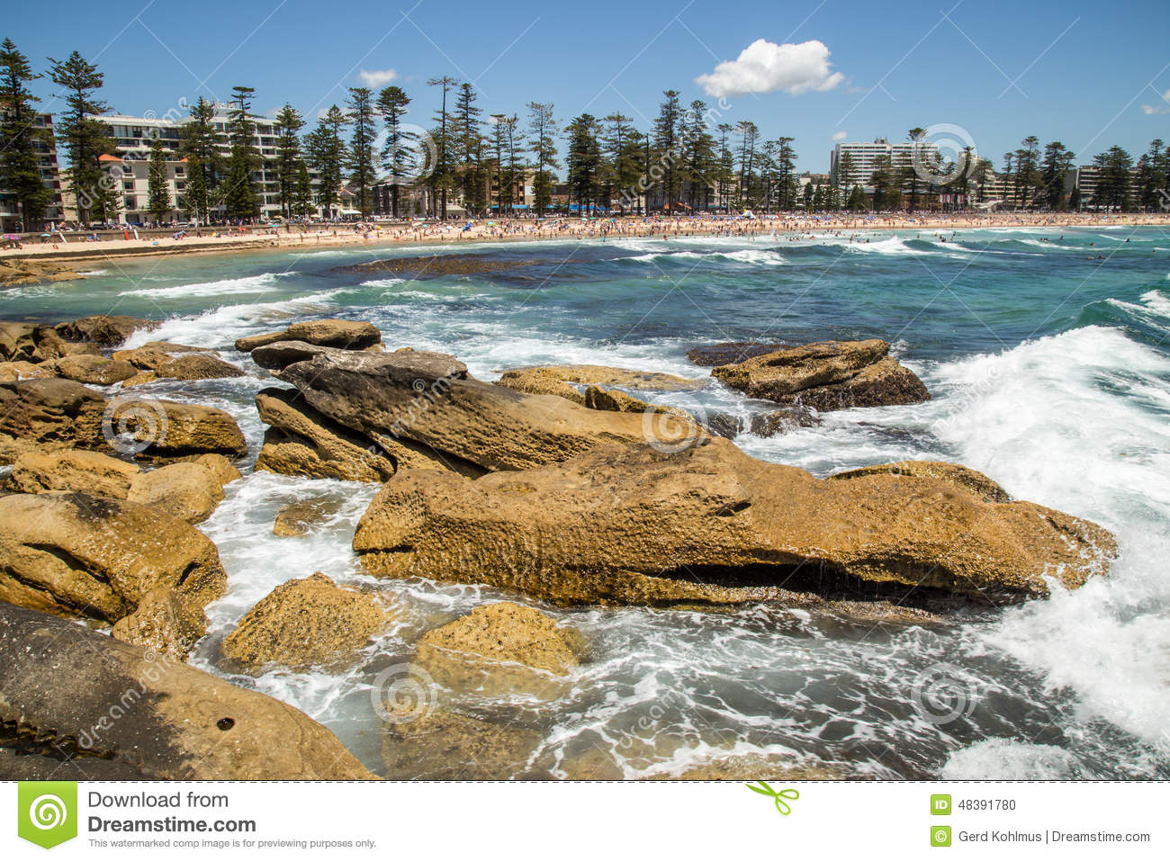 Download Manly Beach stock photo. Image of travel, sightseeing - 48391780
