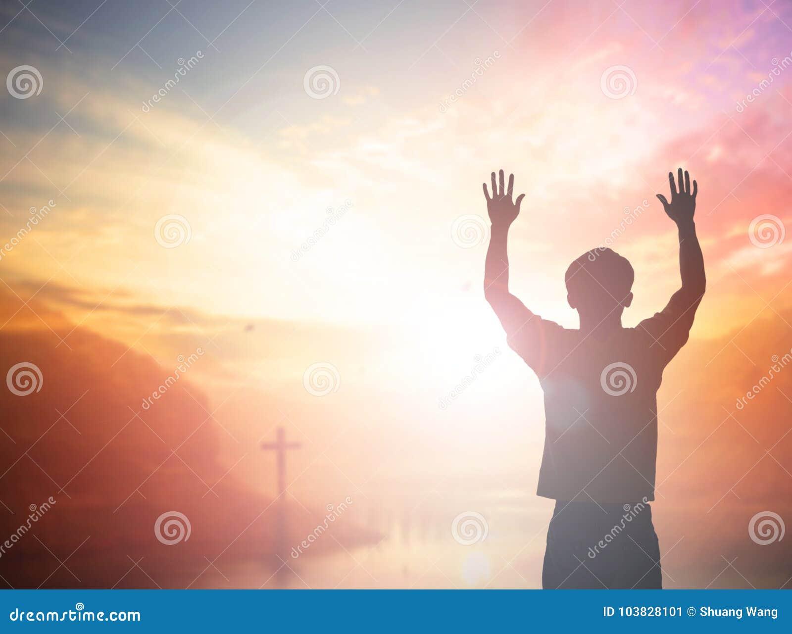 Mann Aufstiegshände Der Schattenbildfreiheit Spornen