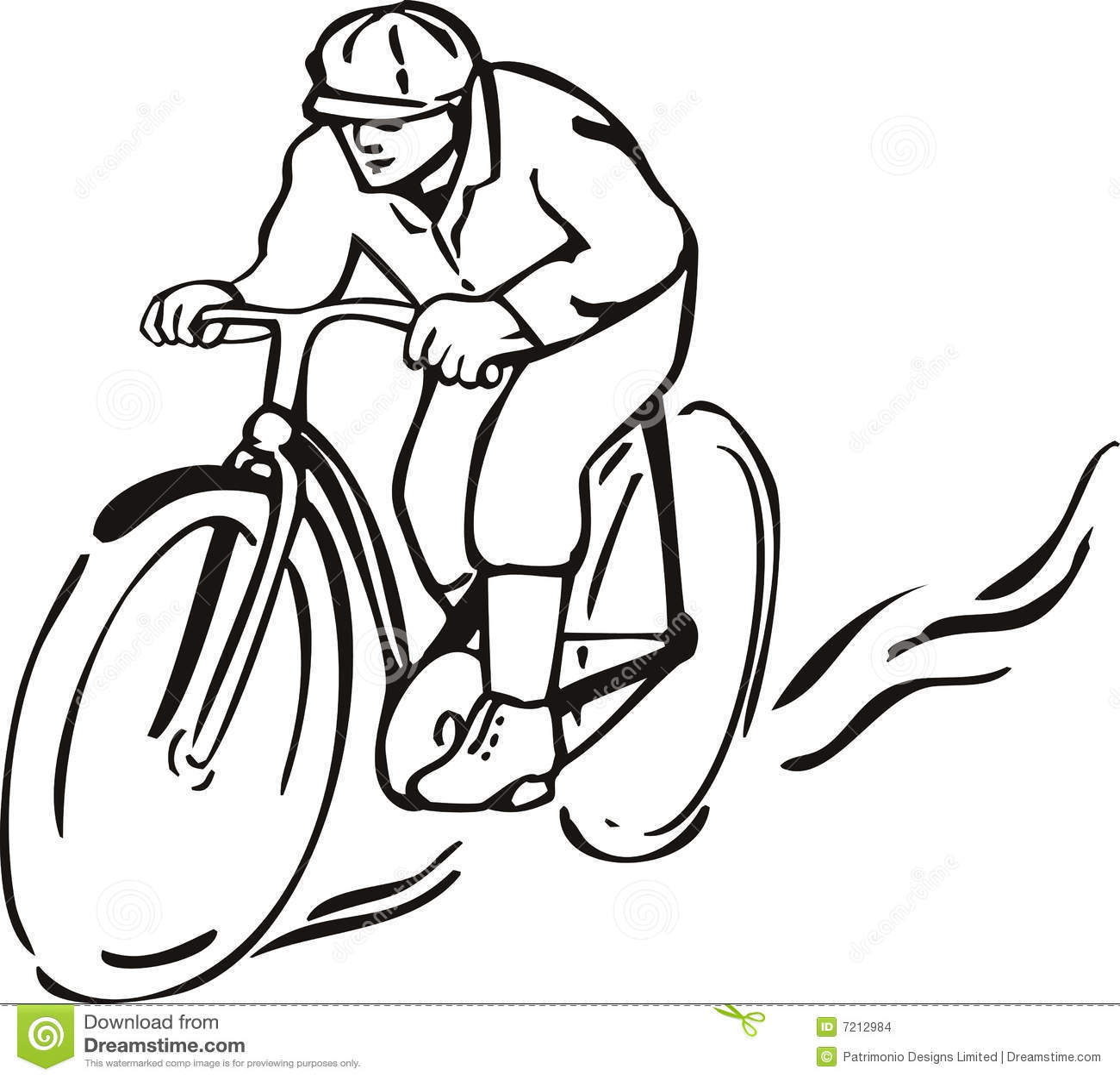 Mann, Der Fahrrad Fährt Stockbilder - Bild: 7212984