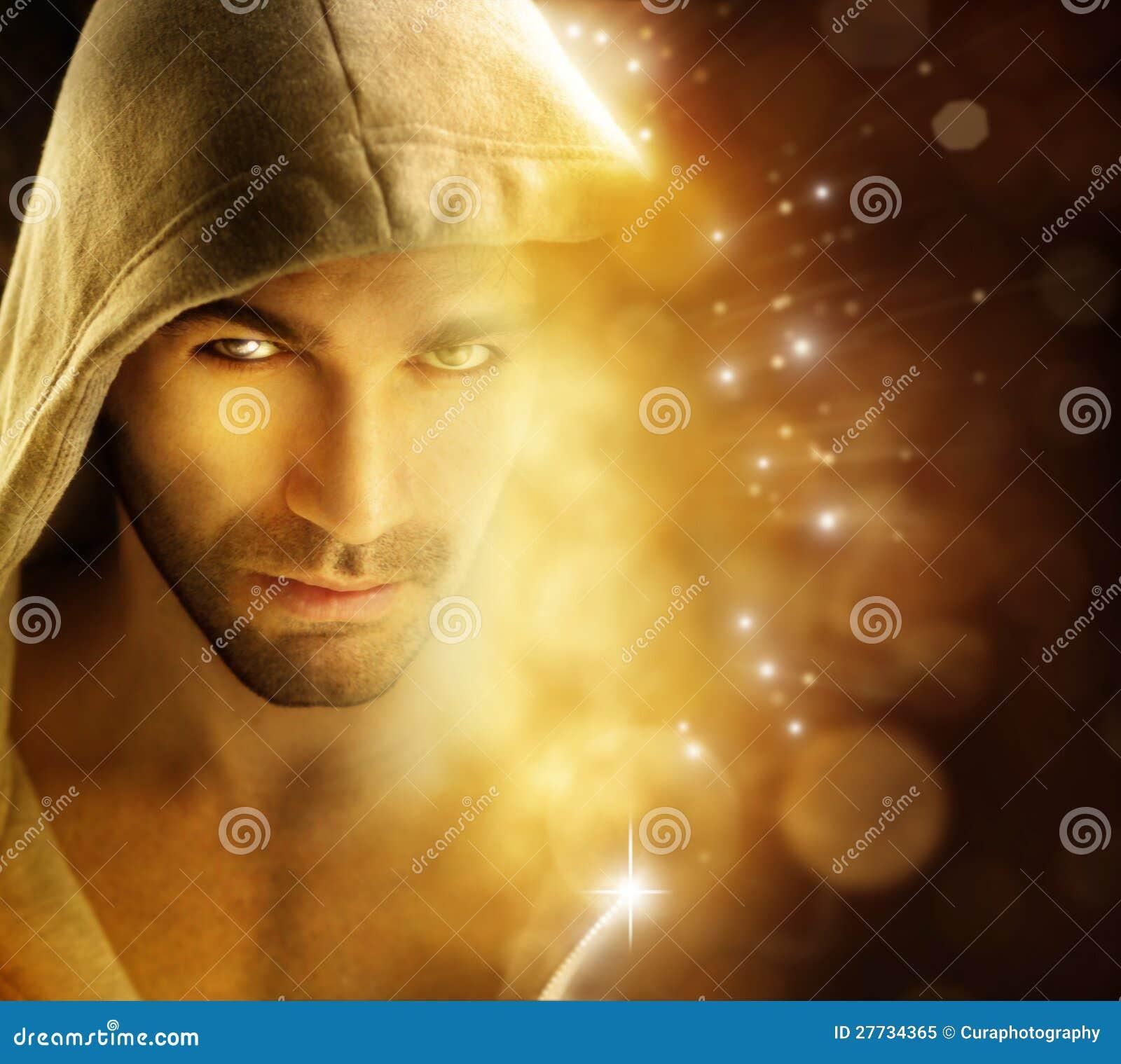 Mann der Leuchte