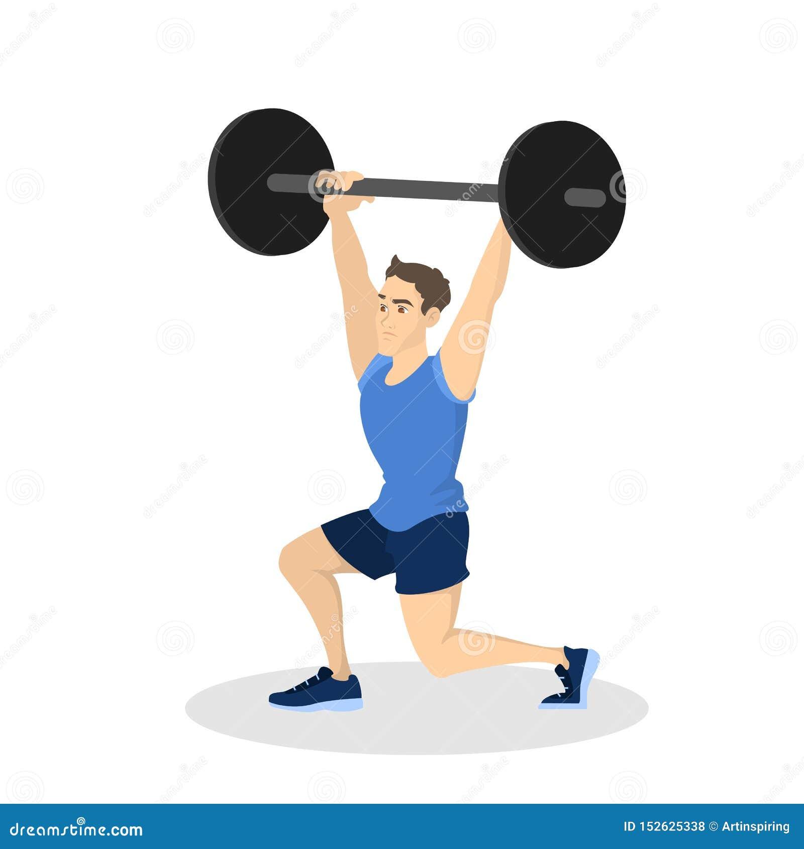 Mann, der Training tut Eignungs- und Bodybuilding?bung