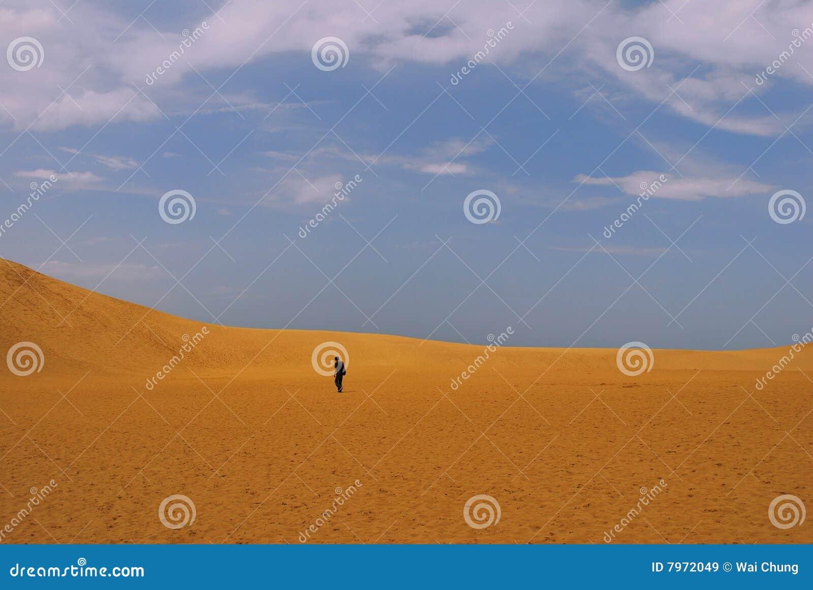 Mann in der Wüste