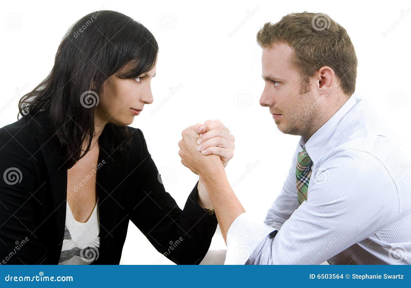 Mann gegen Frau stockfoto. Bild von frau, mann - 6503564