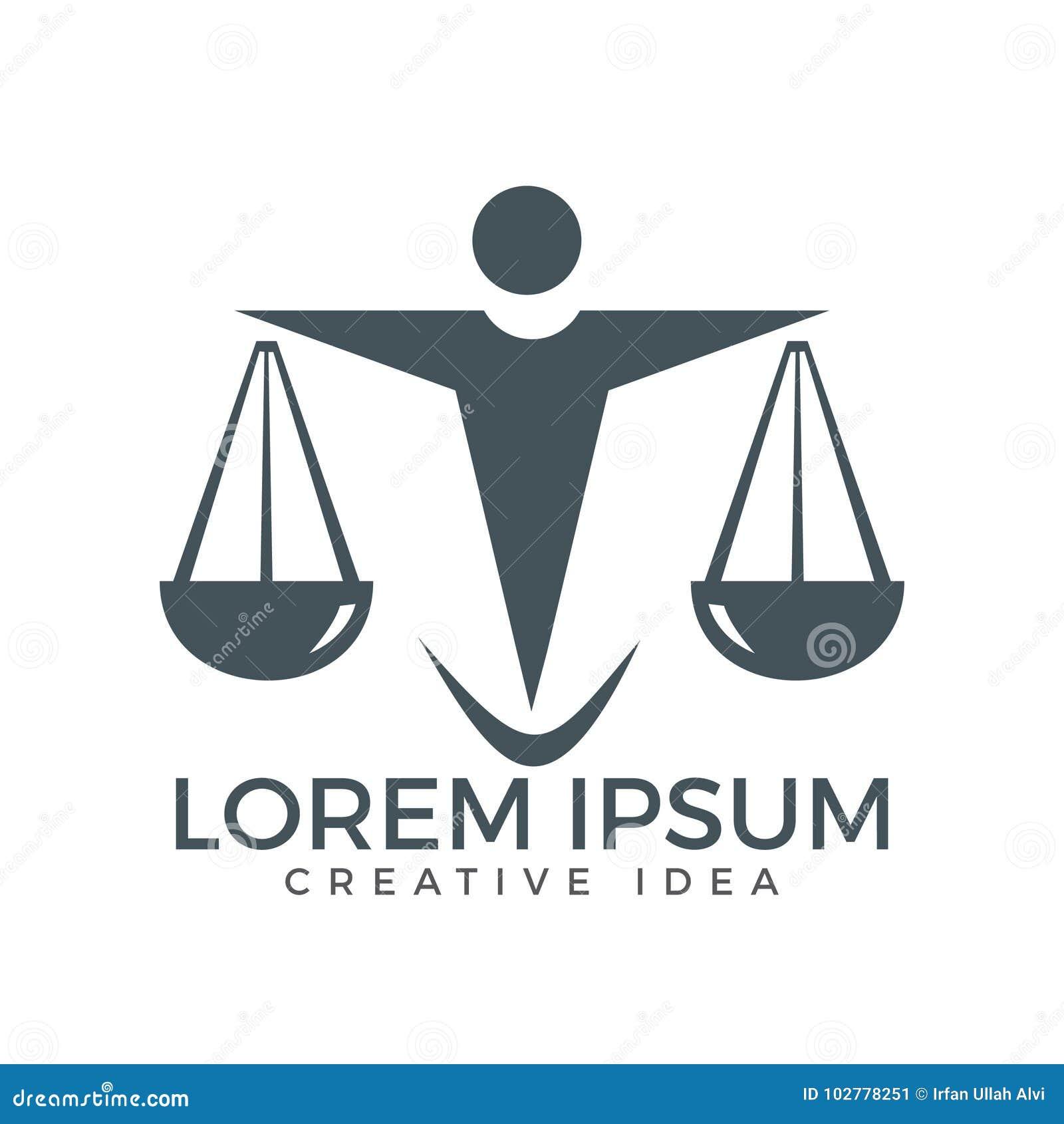 Mann-Holding-Skalen von Gerechtigkeit Logo Gesetz und Rechtsanwalt Logo Design