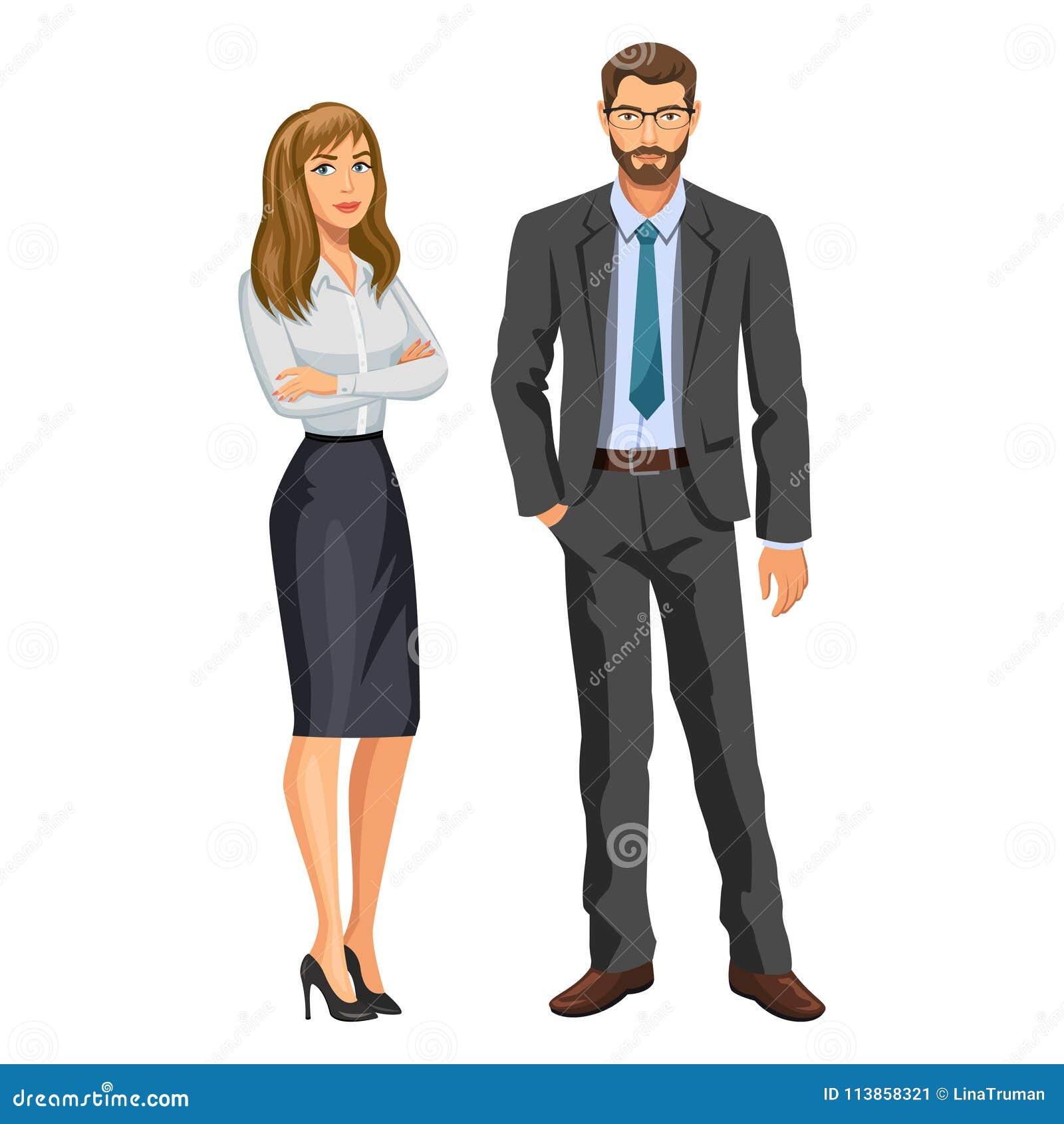 mann im anzug mit gl sern und bart und blondes m dchen. Black Bedroom Furniture Sets. Home Design Ideas