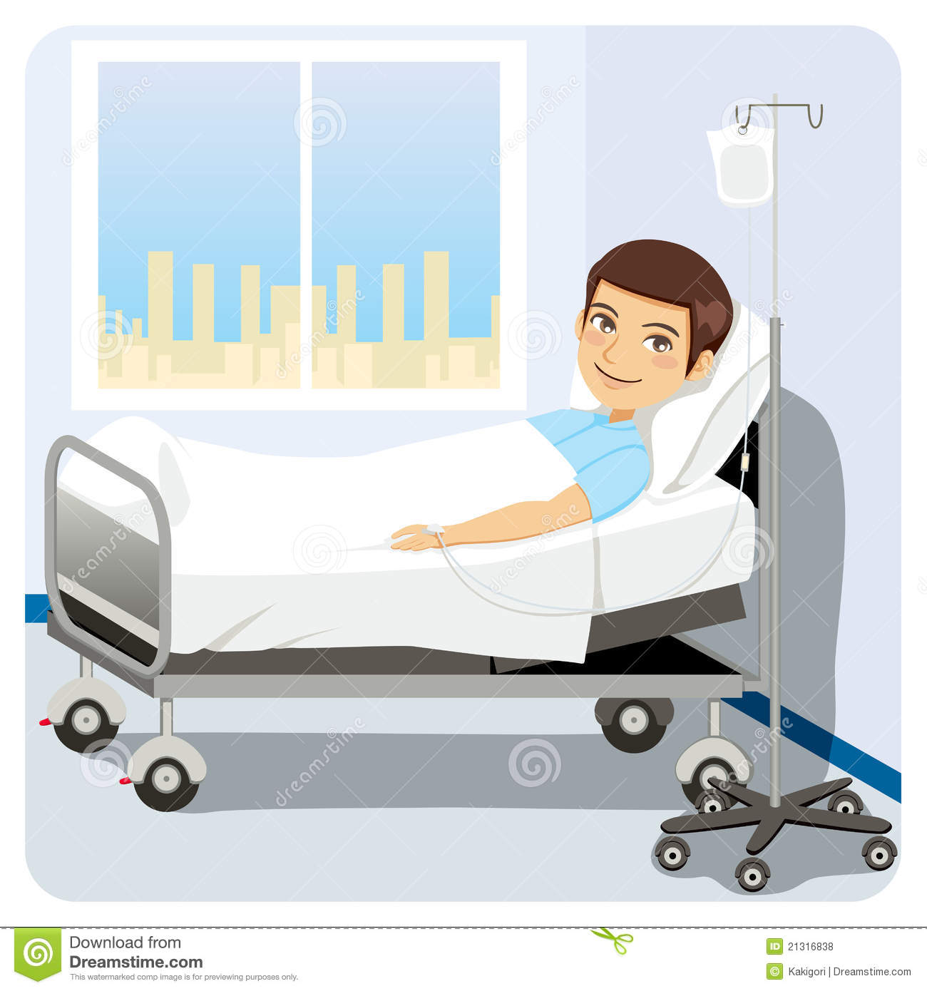 Pictures Of A Boy In The Hospital Bed