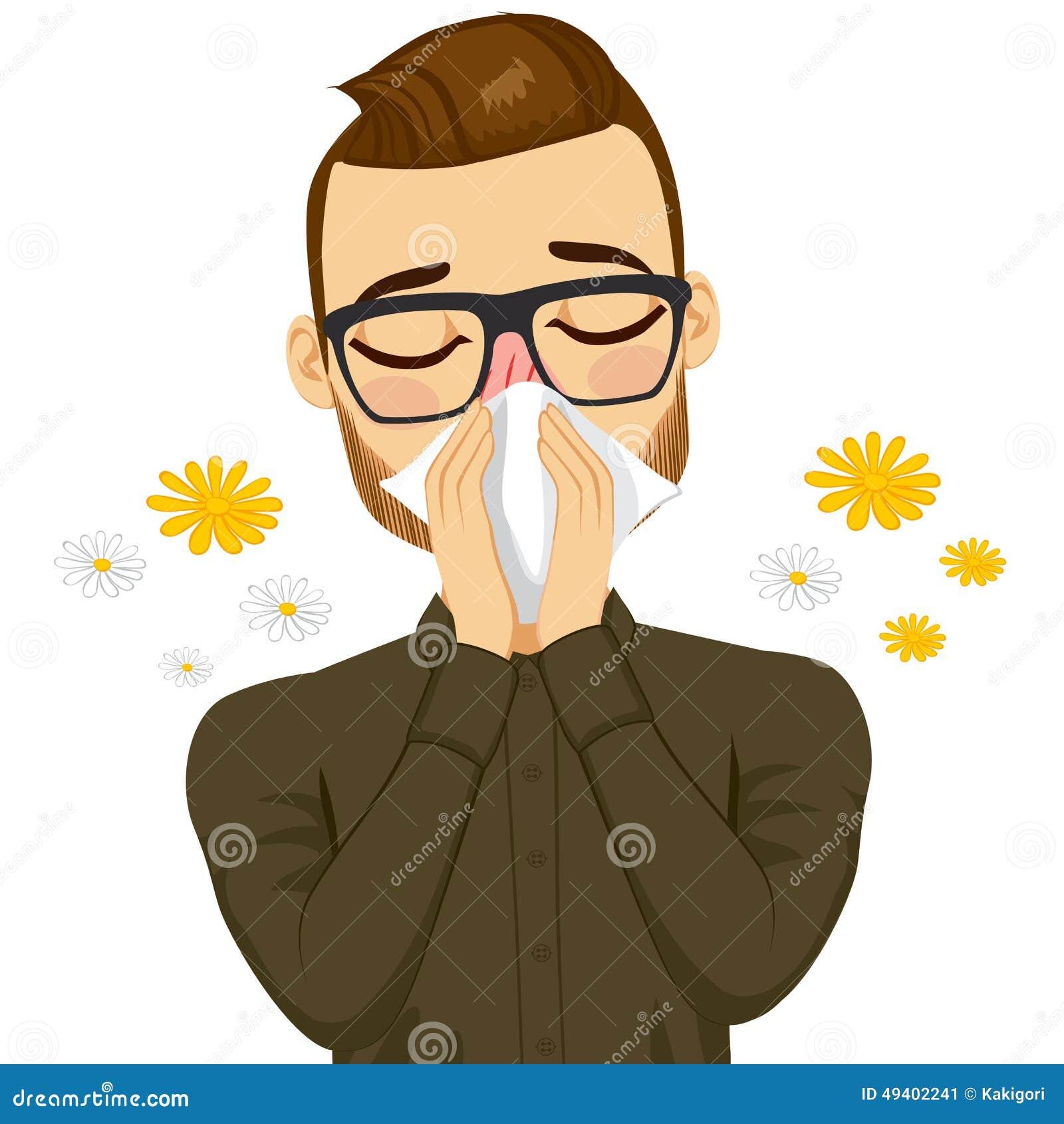 Download Mann-leidende Frühlings-Allergie Vektor Abbildung - Illustration von suffering, frühling: 49402241