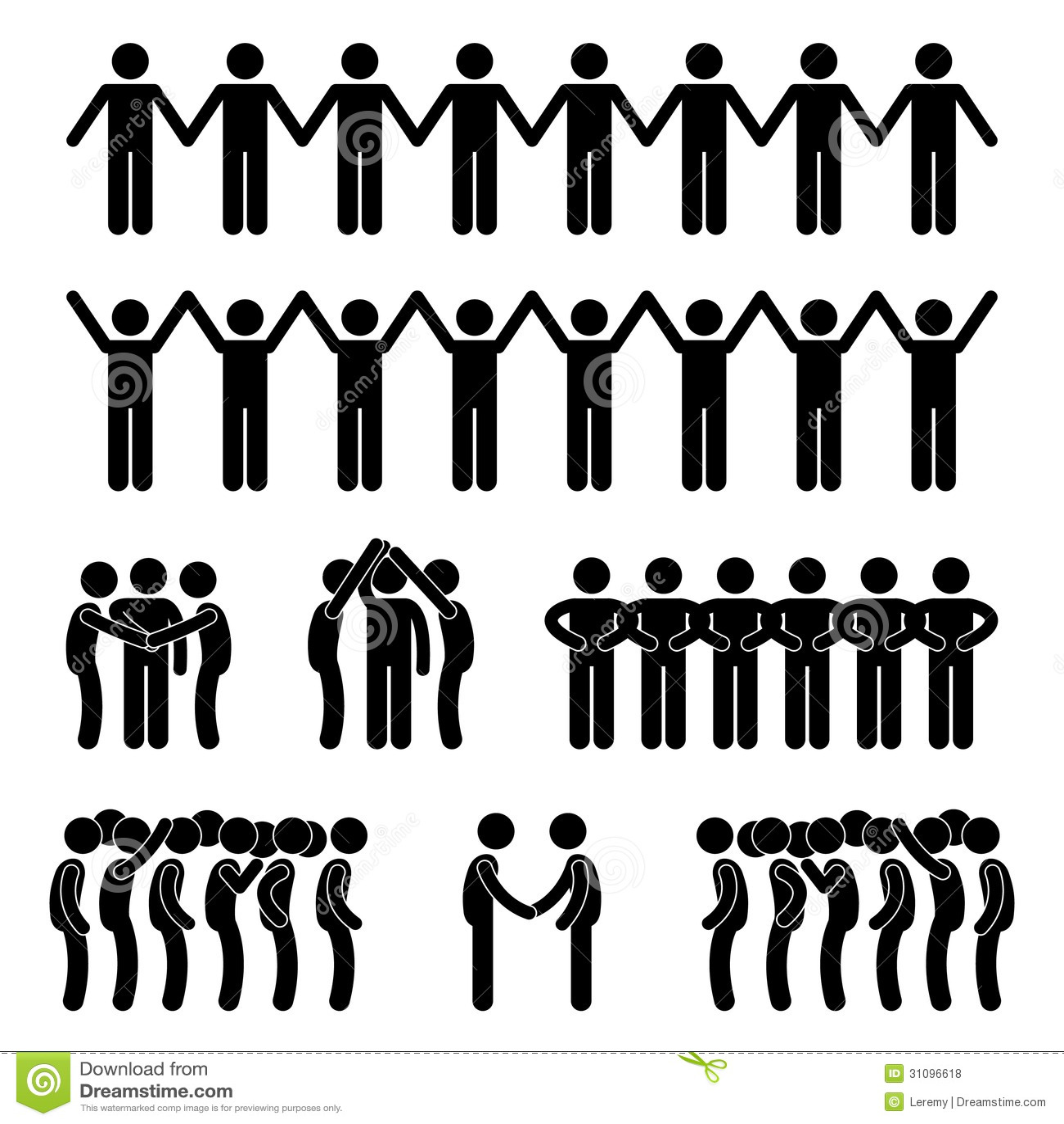 Mann-Leute vereinigte Einheits-Gemeinschaftsstock-Zahl Pic