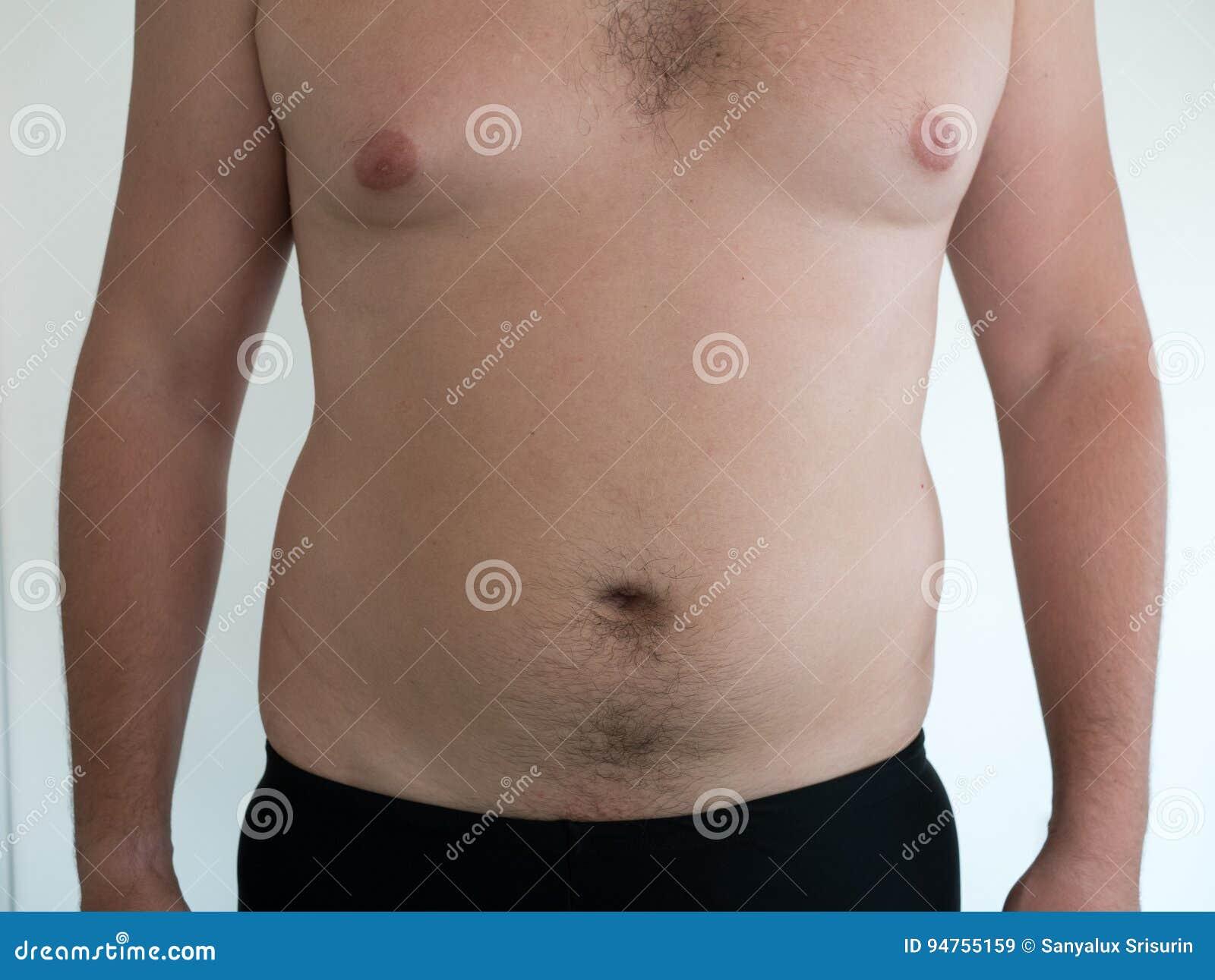 Bauch mann mit Bauch weg