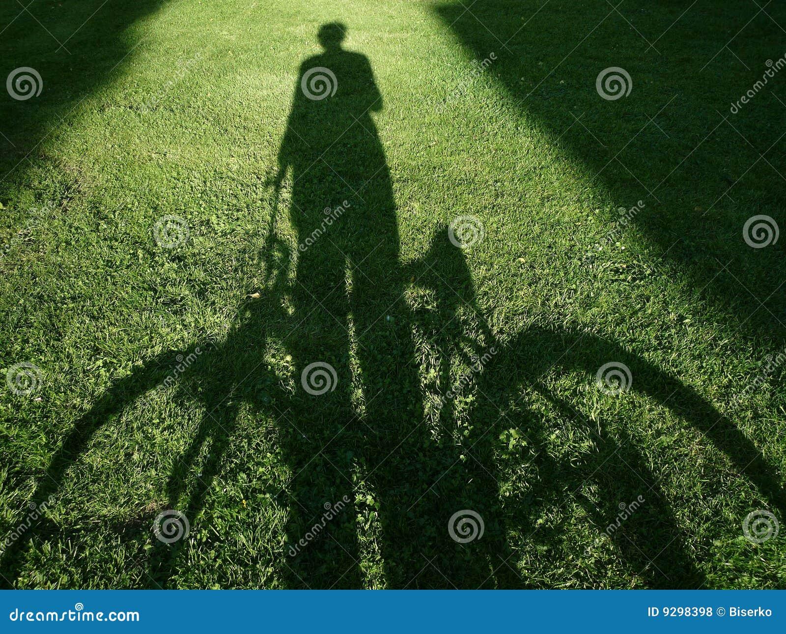 Mann mit Fahrrad
