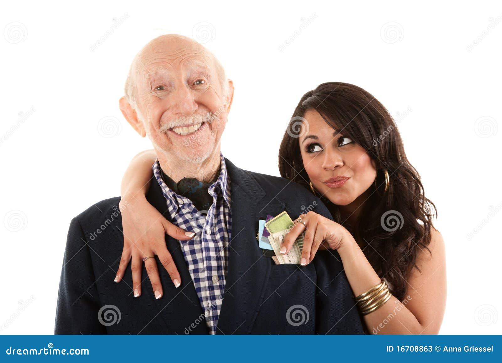 Mann mit Goldgräber Begleiter oder Frau