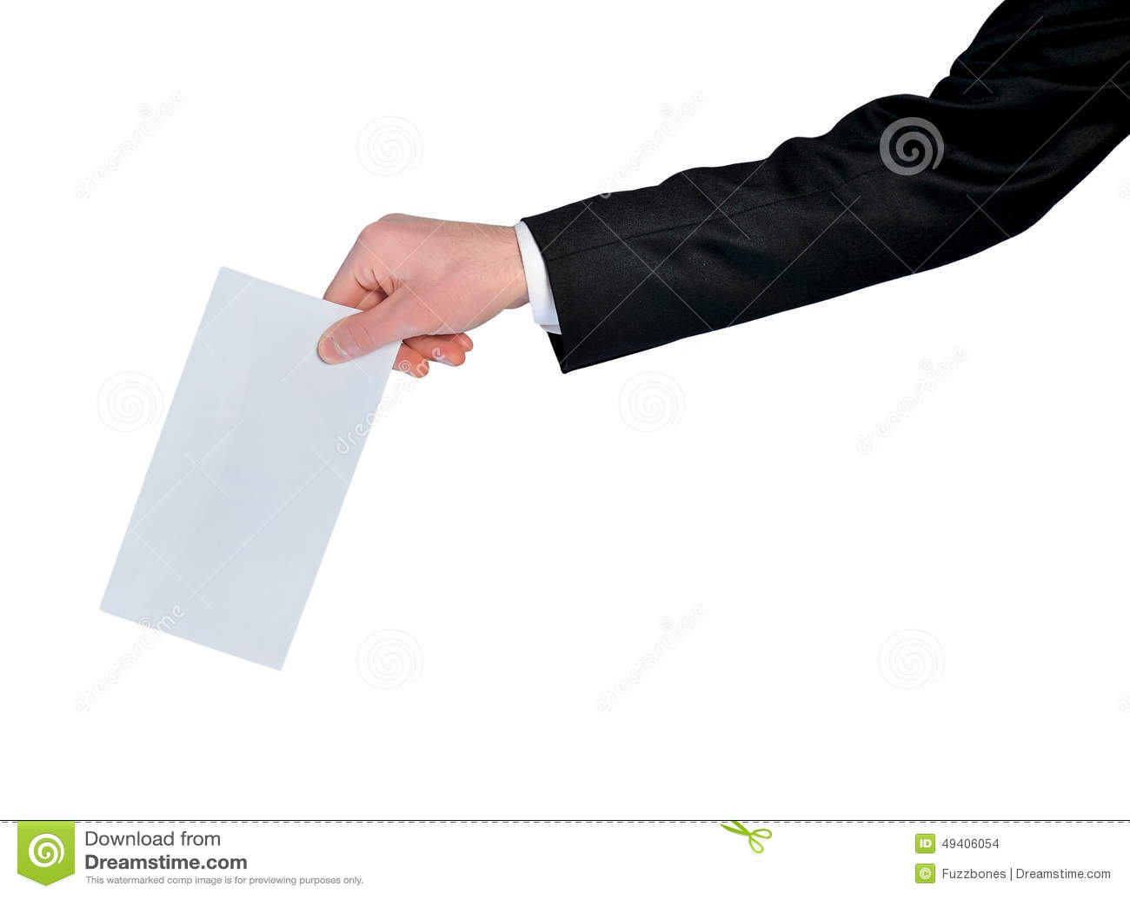 Download Mann mit Post stockfoto. Bild von ausschnitt, leer, hand - 49406054