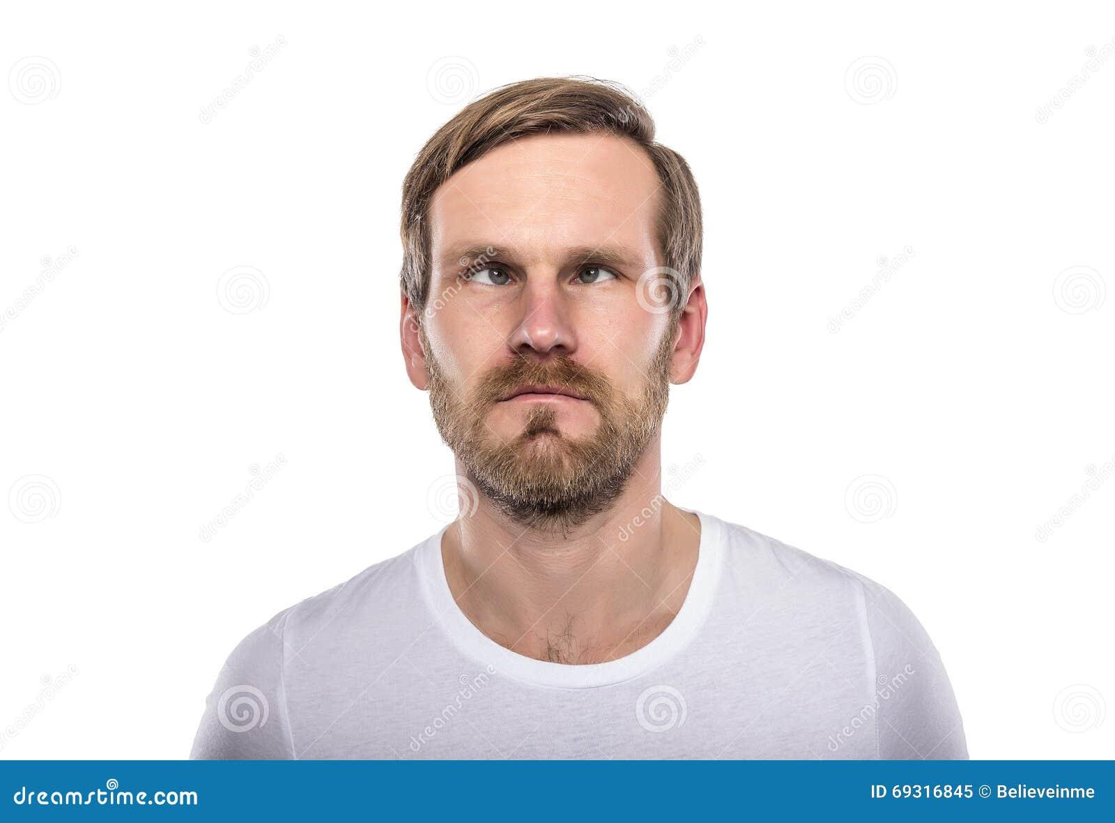 Mann Mit Seinen Augen Gekreuzt Stockbild - Bild von mann