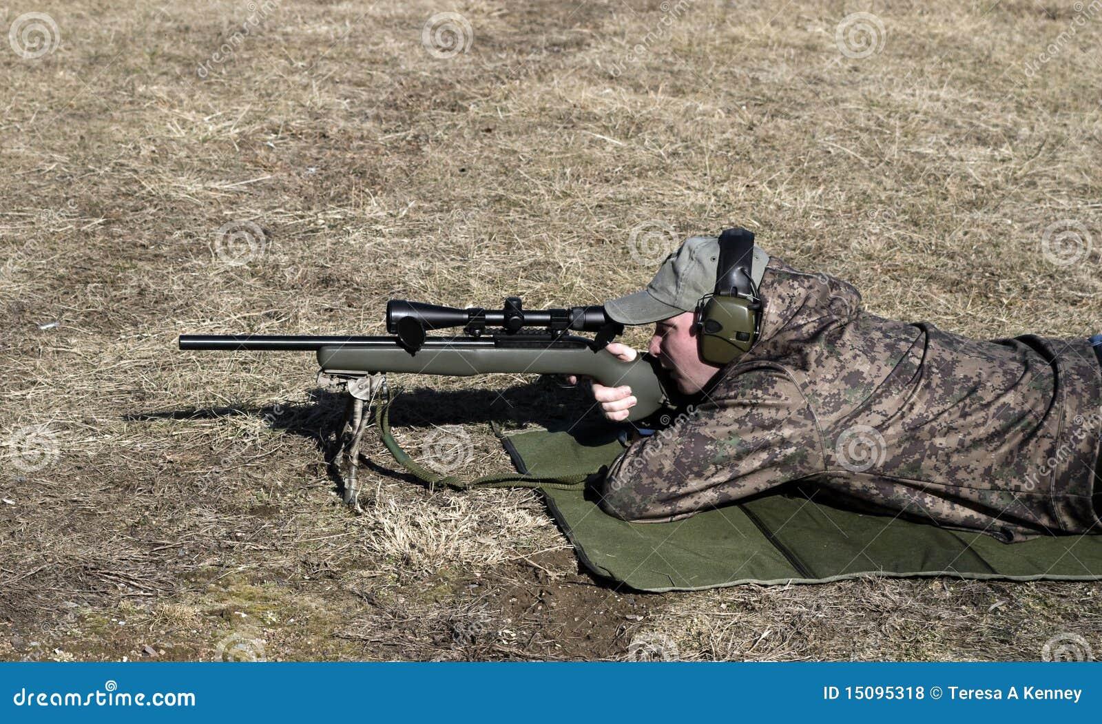 Mann-Schießen-Gewehr