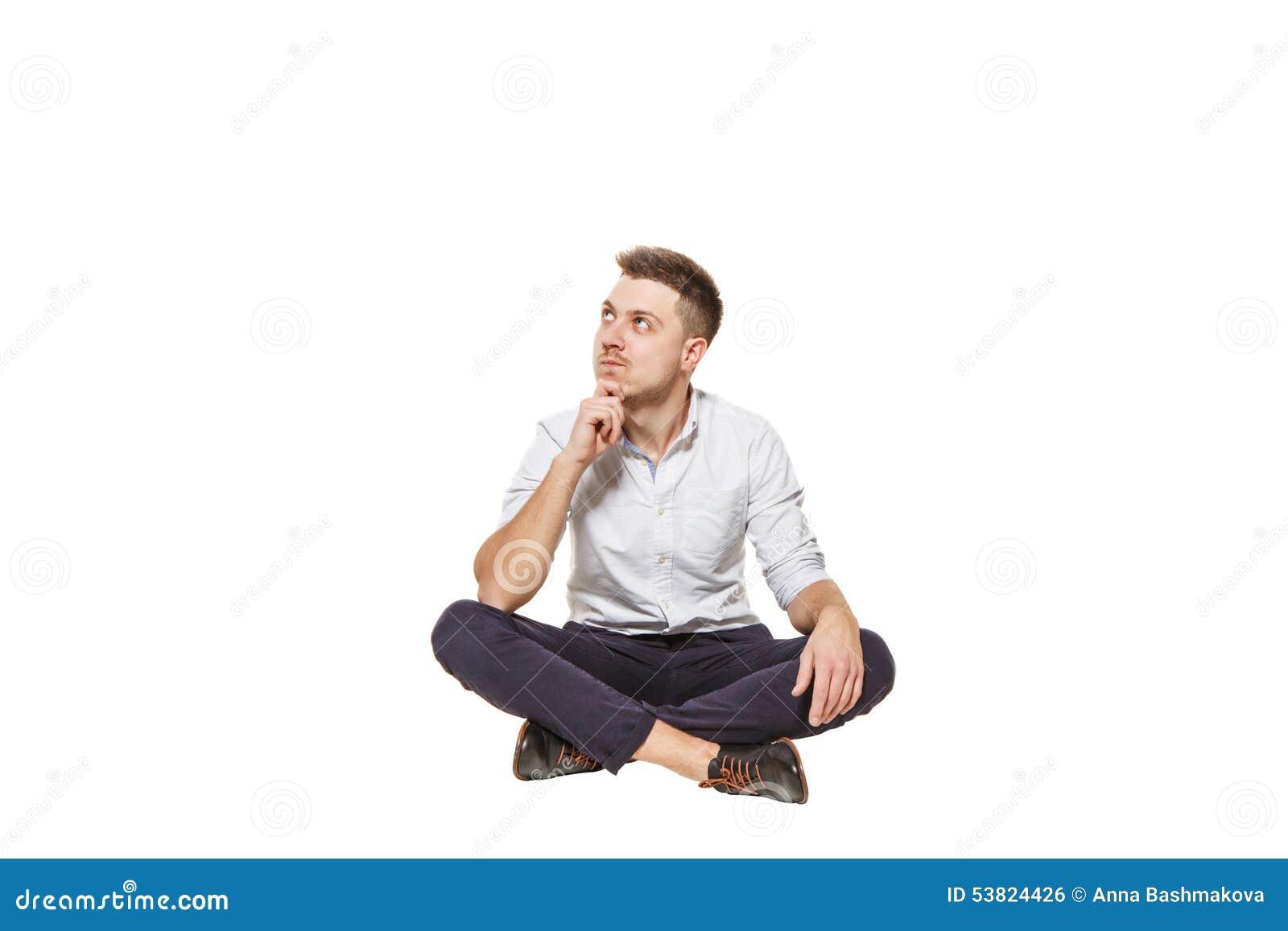 Mann Sitzt