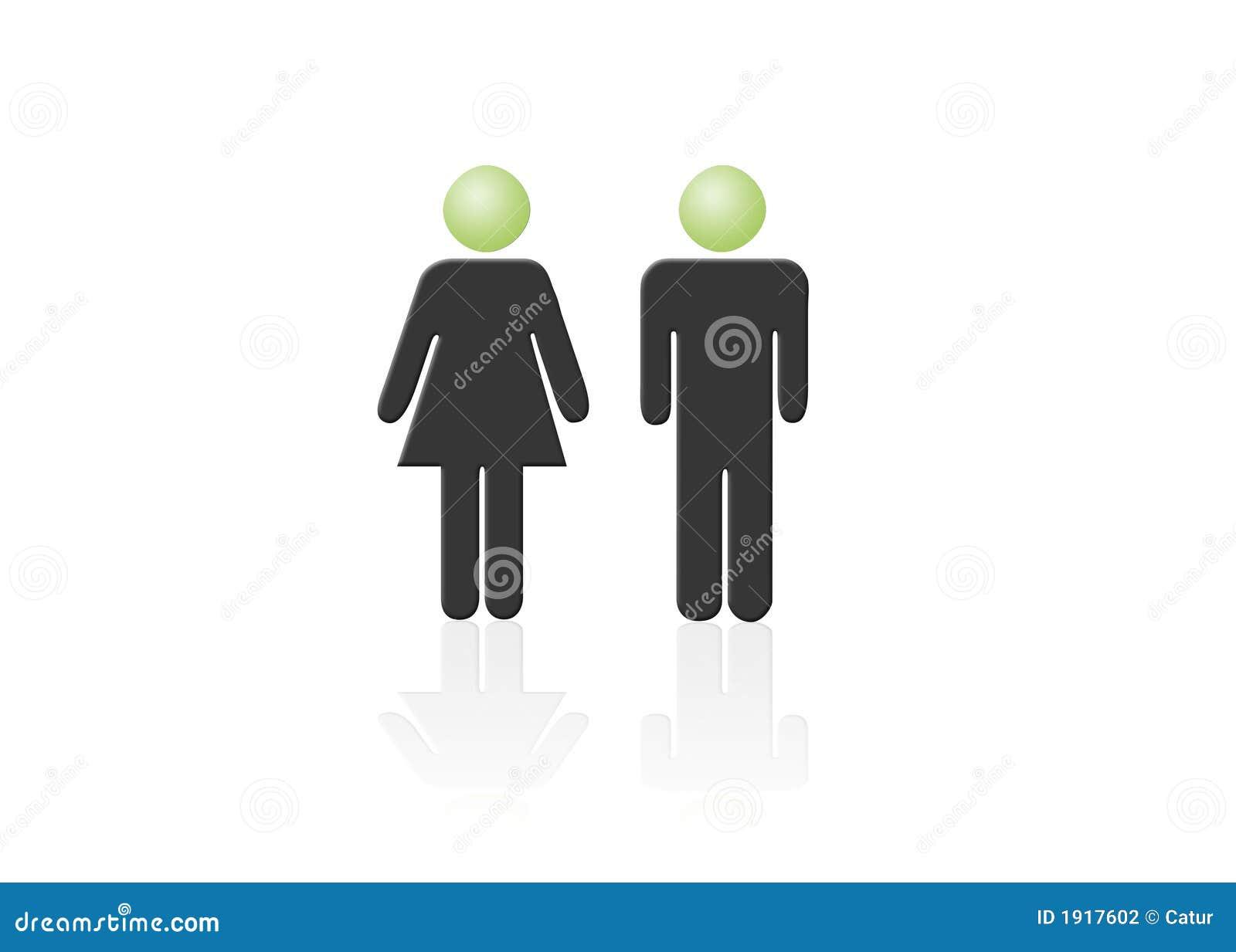 Mann- und Frauenikone, ein Mann, eine Frau