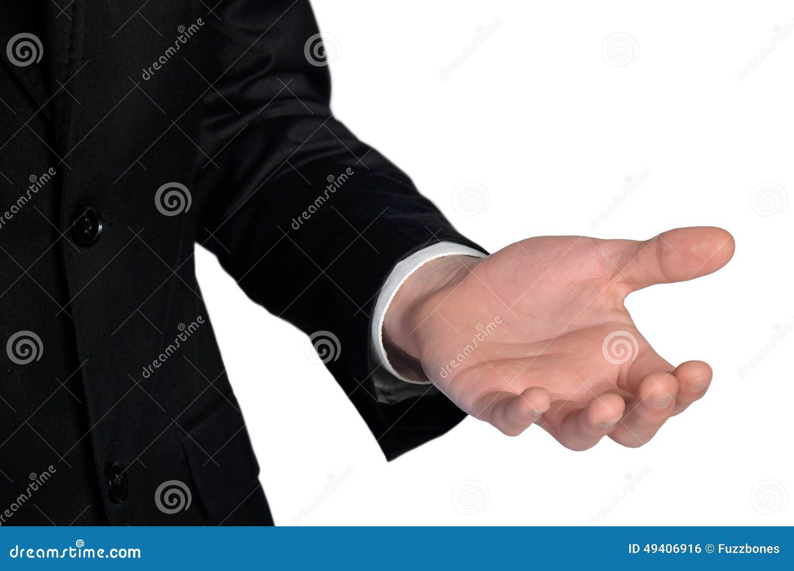 Download Mannangebothand stockfoto. Bild von abschluß, geben, unterstützung - 49406916