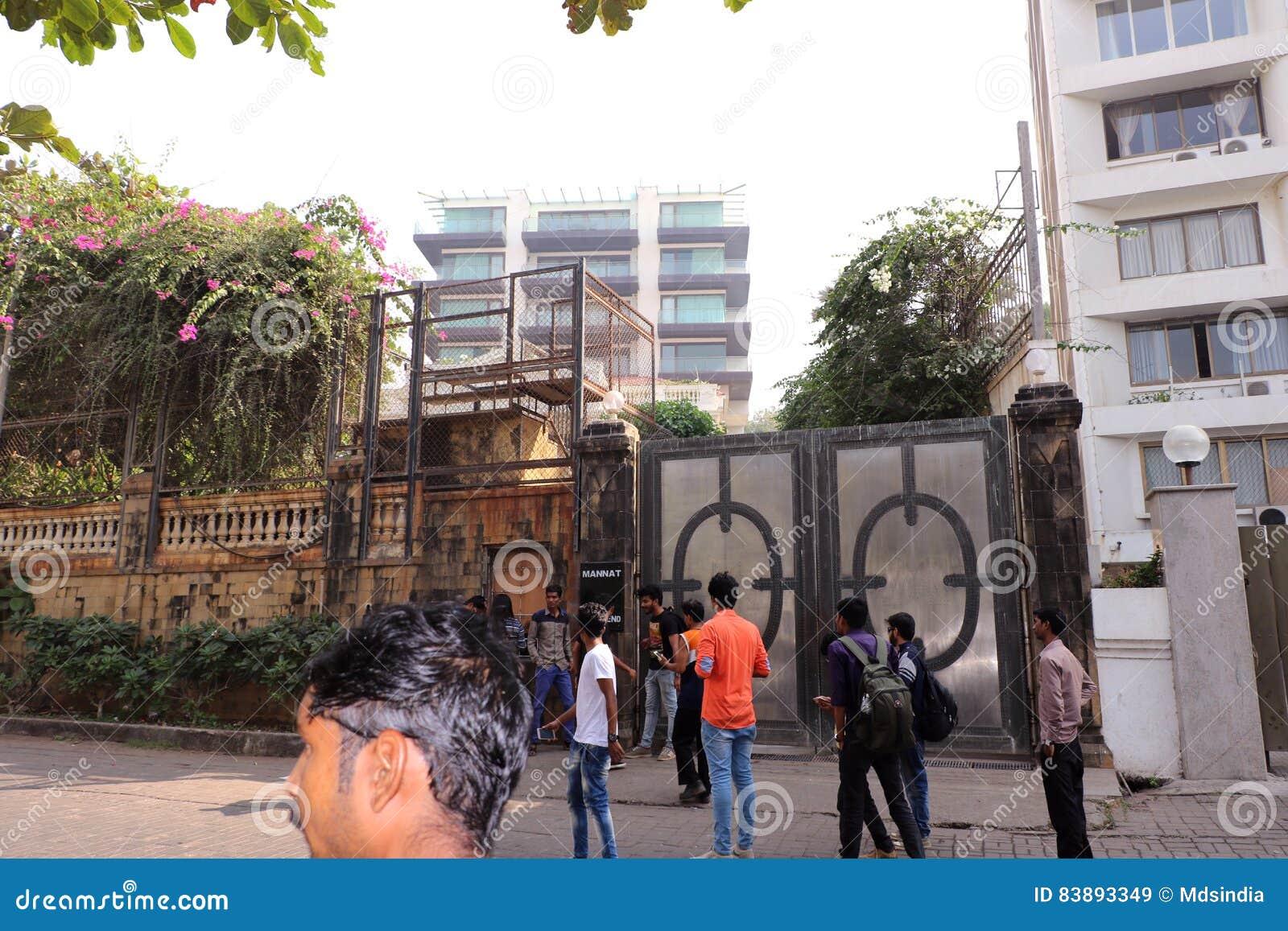 Mannat Bandra Mumbai Editorial Stock Image Image Of