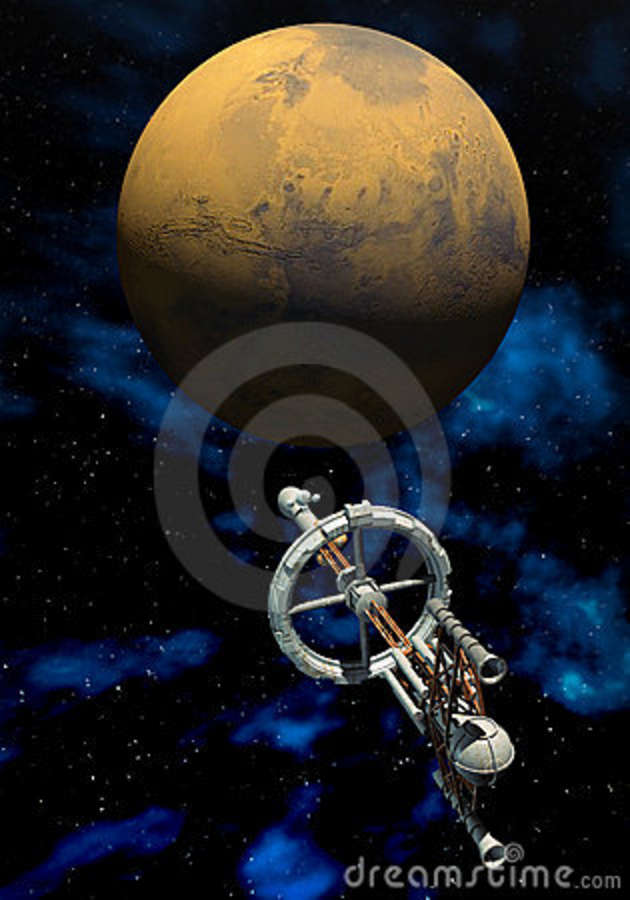 manned mission to mars 3d art - photo #27