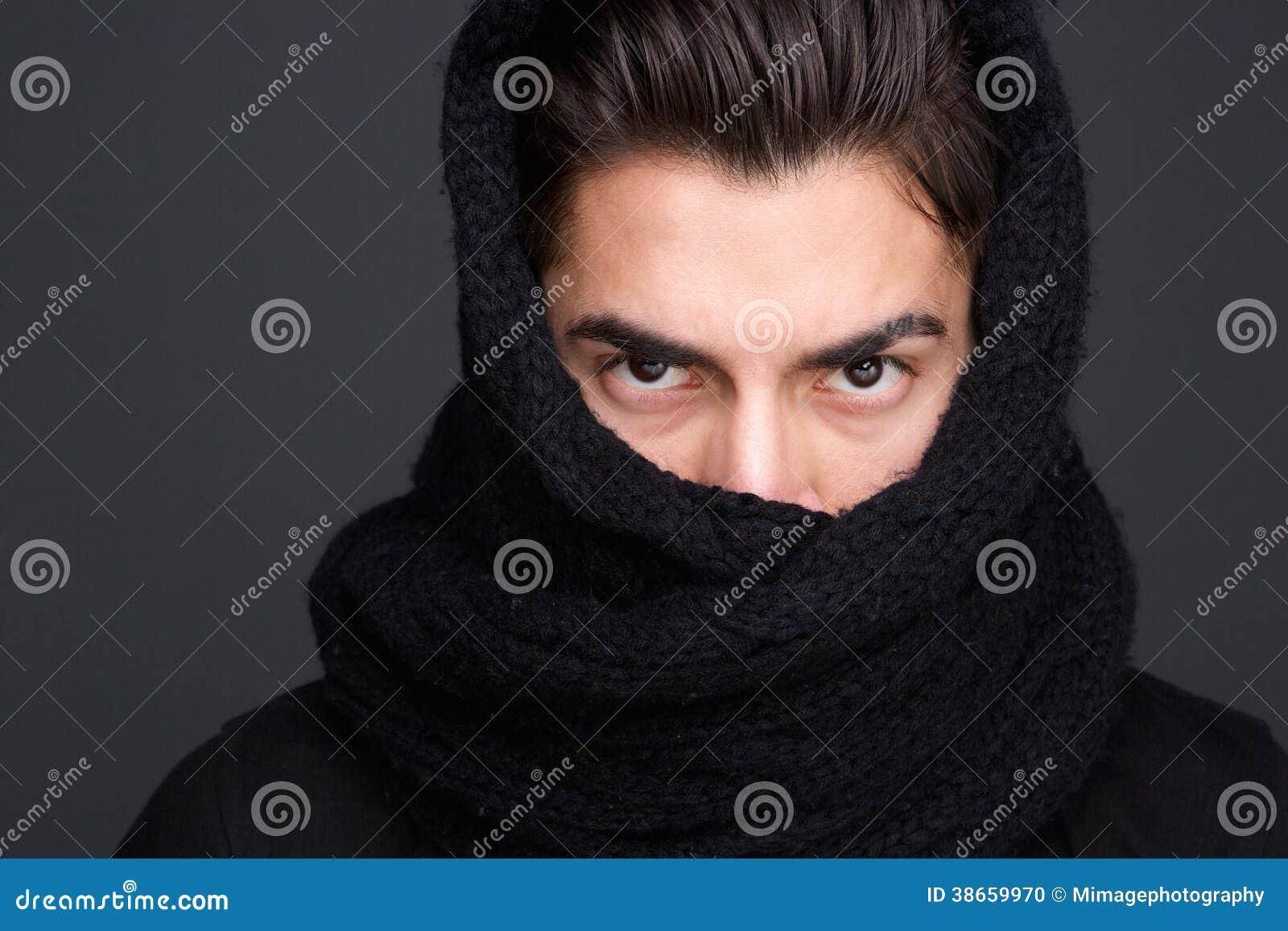 Mannelijk mannequinsjaal behandeld gezicht