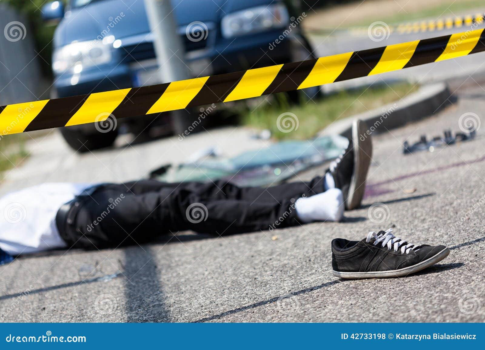 Mannelijk slachtoffer van autoongeval