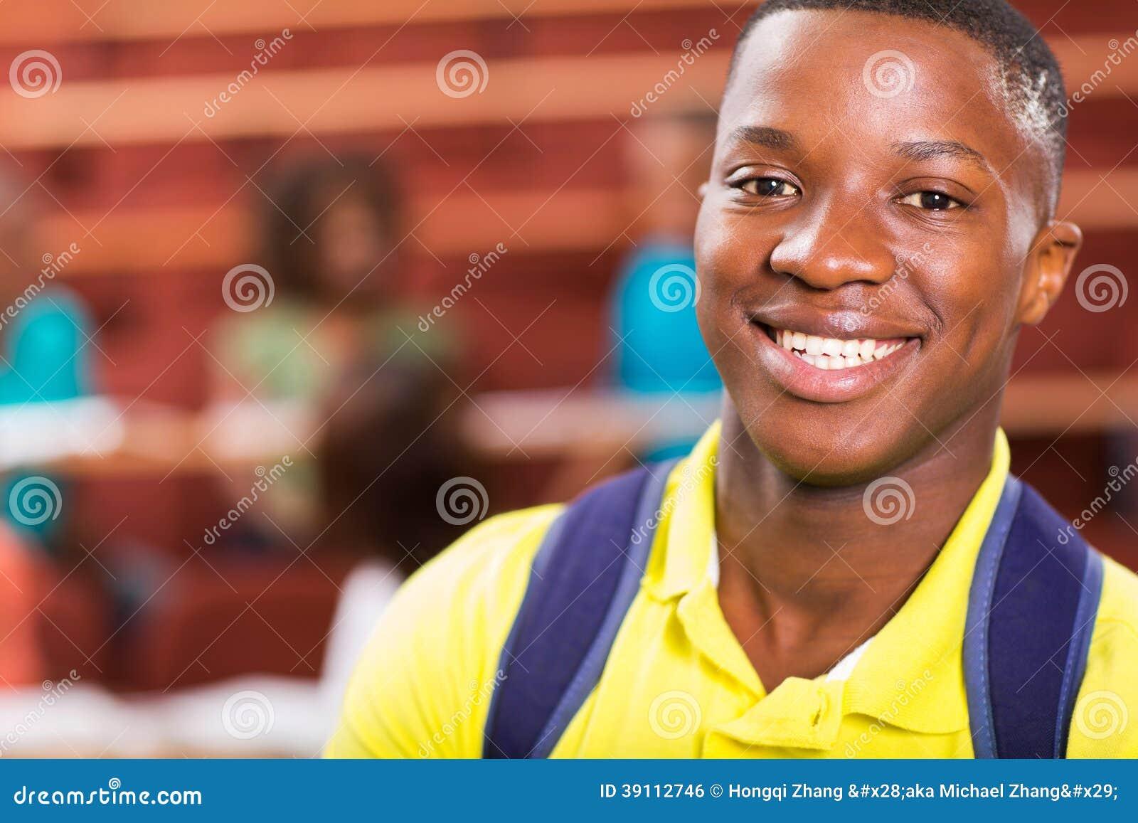 Mannelijke Afrikaanse universitaire student