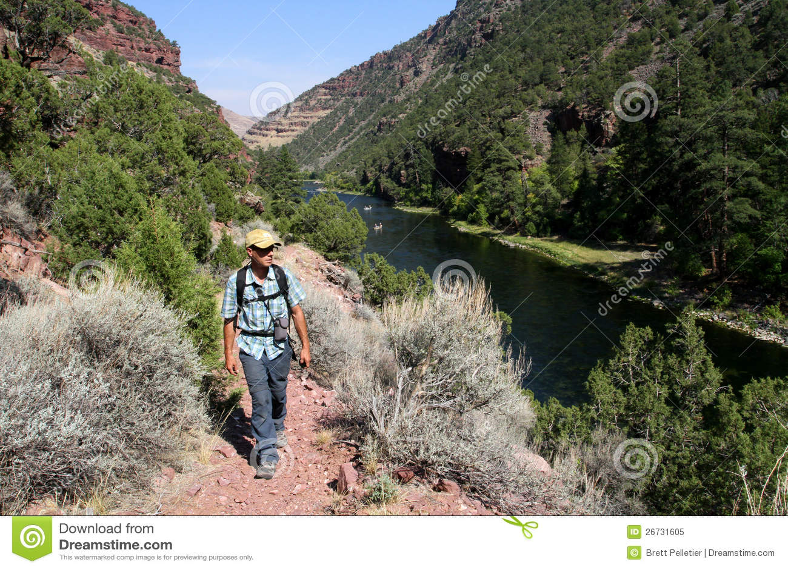 Mannelijke wandelaar