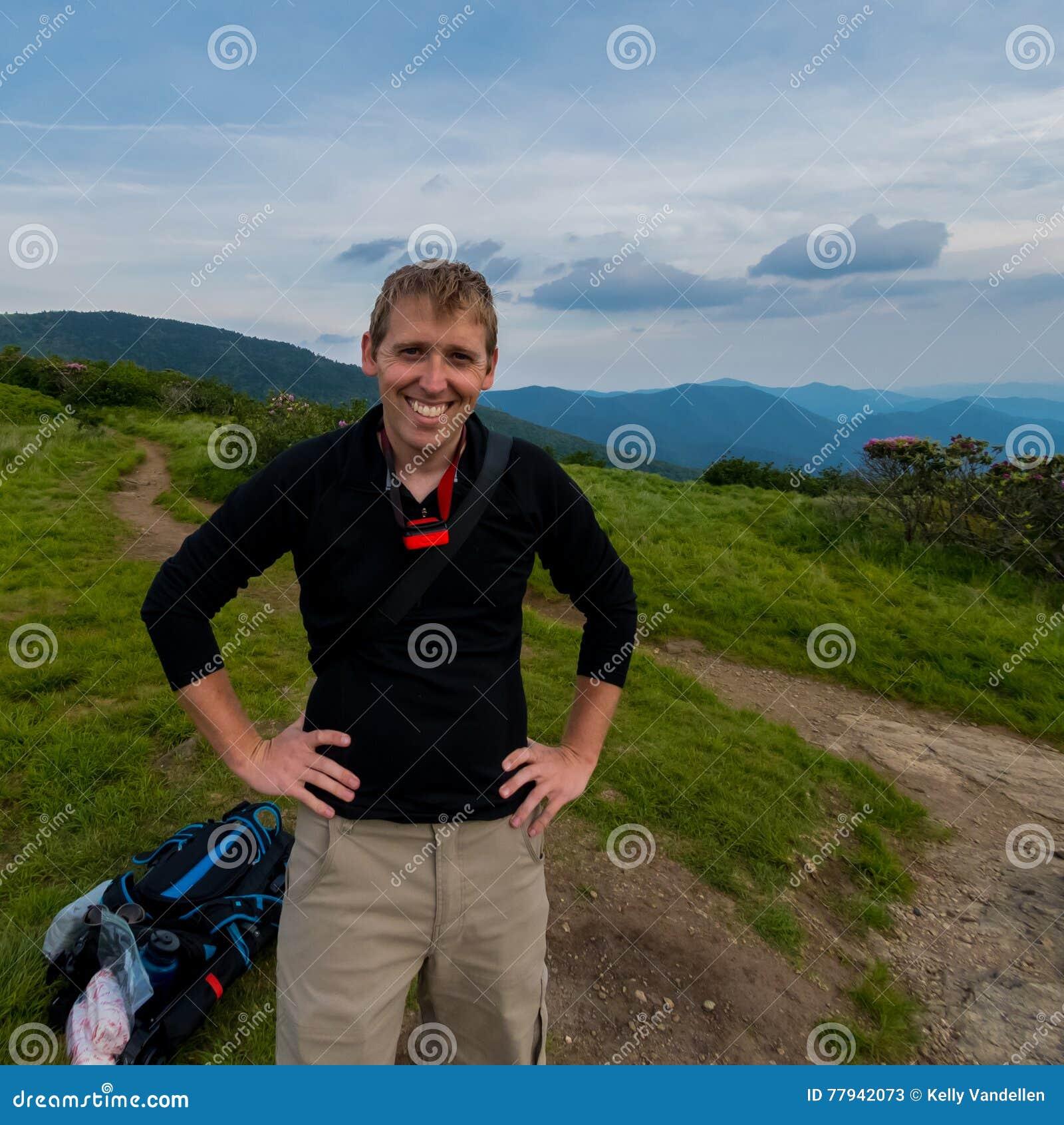 Mannelijke Wandelaar op Jane Bald