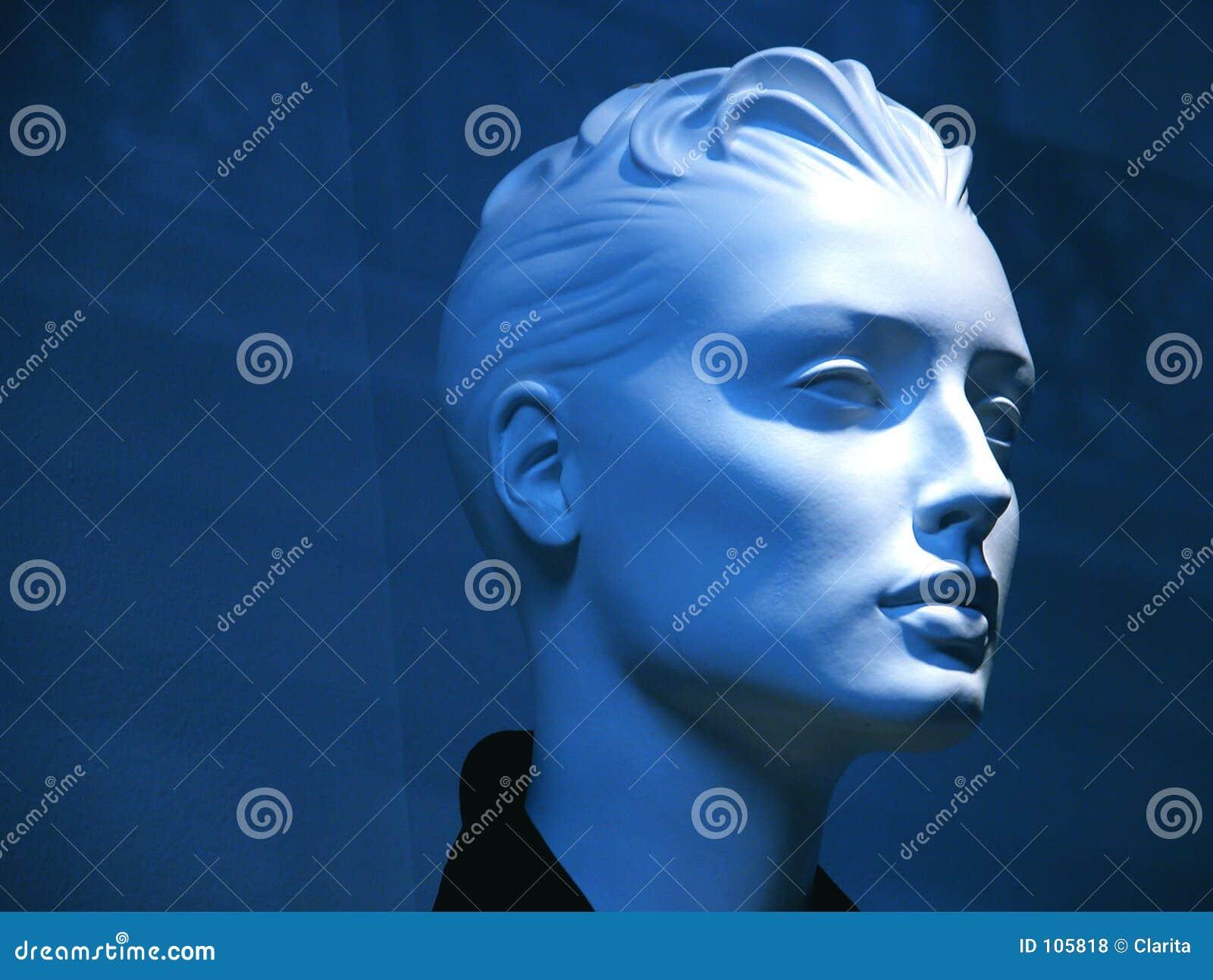 Mannequin azul