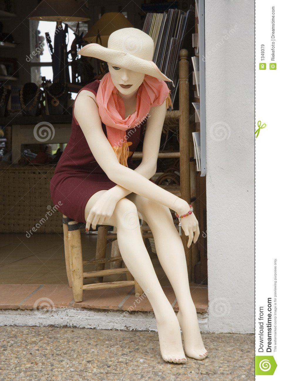Mannequin on a chair