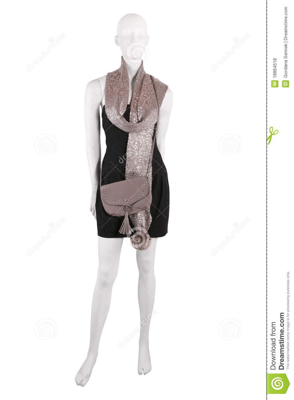 Mannequin Dressed In Female Clothing Royalty Free Stock ...