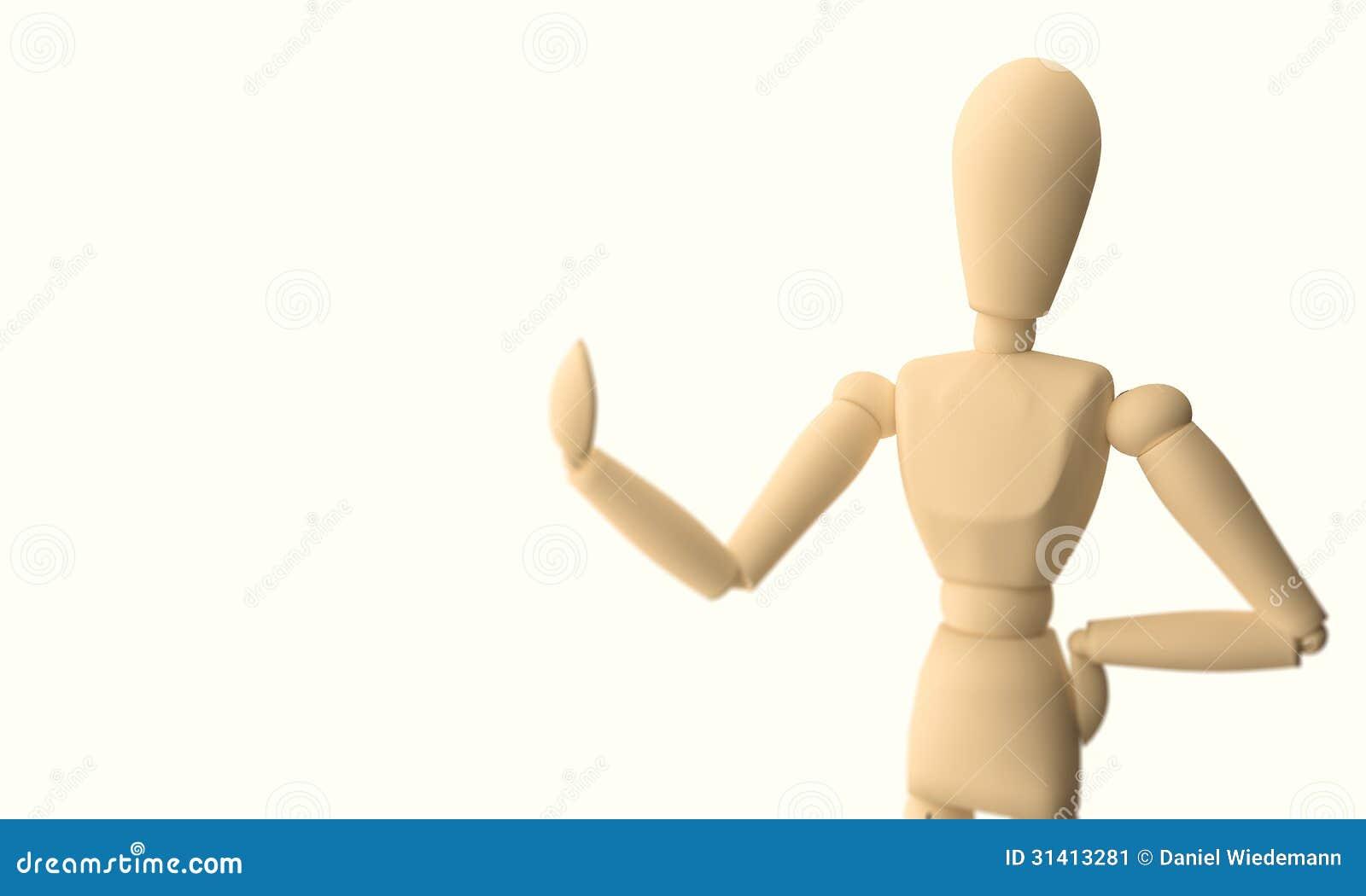 Mannequin en bois