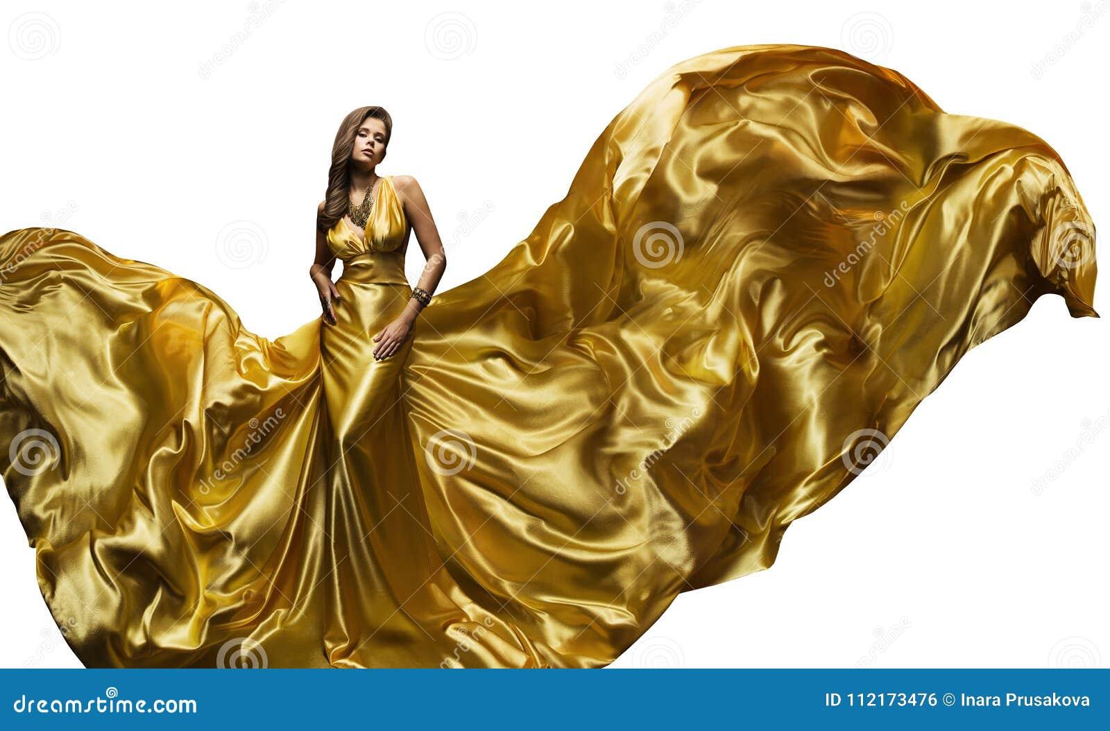 Mannequin Golden Fly Dress, Elegante Vrouwen Fladderende Toga