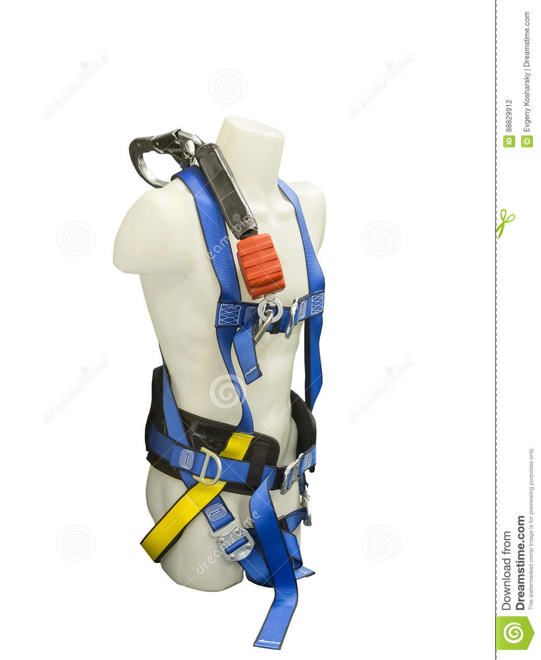Mannequin In Safety Harness Equipment Stock Photo Image Of Download Adventure 88829912