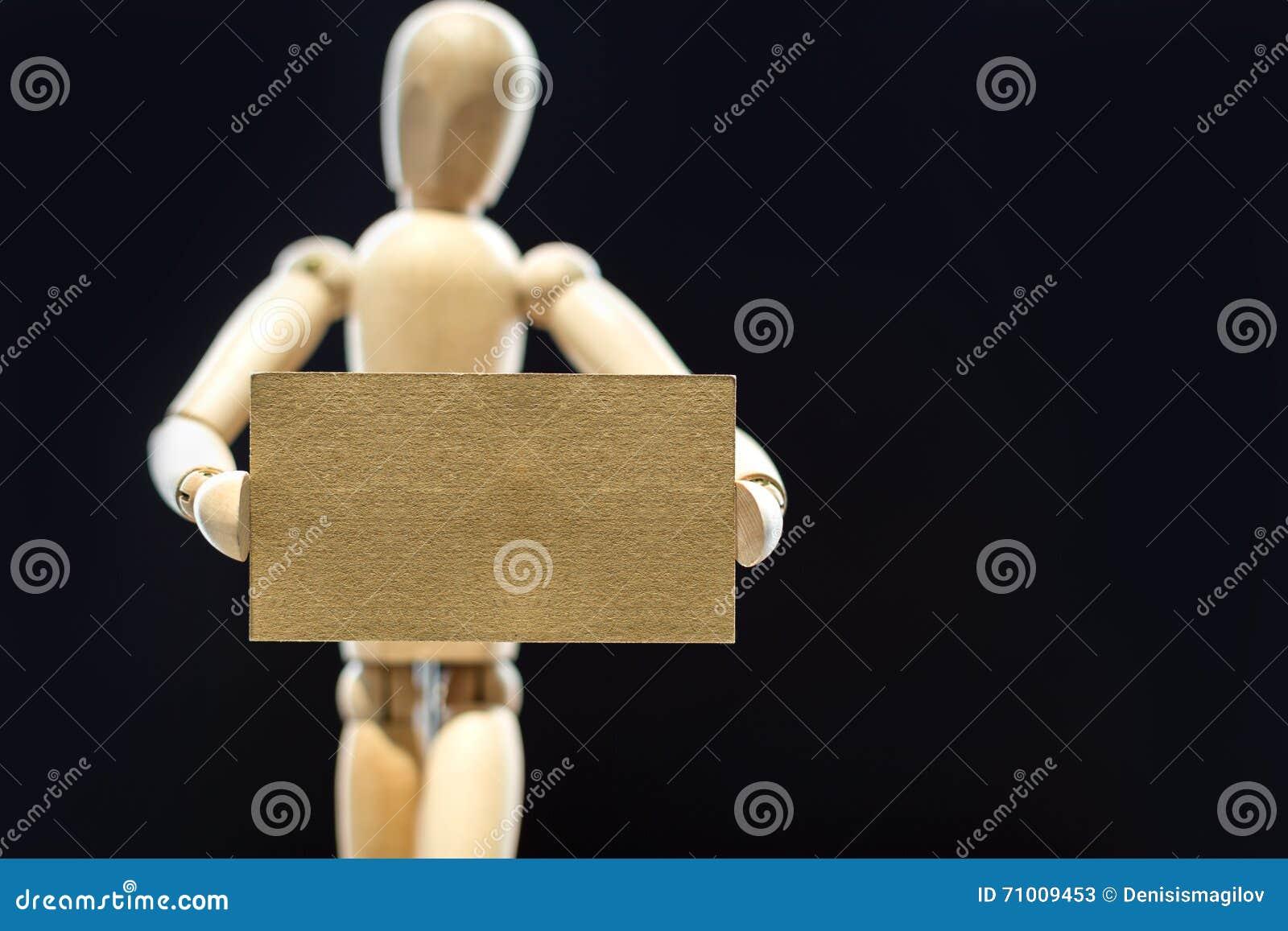 Mannequin Tenant La Carte De Visite Professionnelle