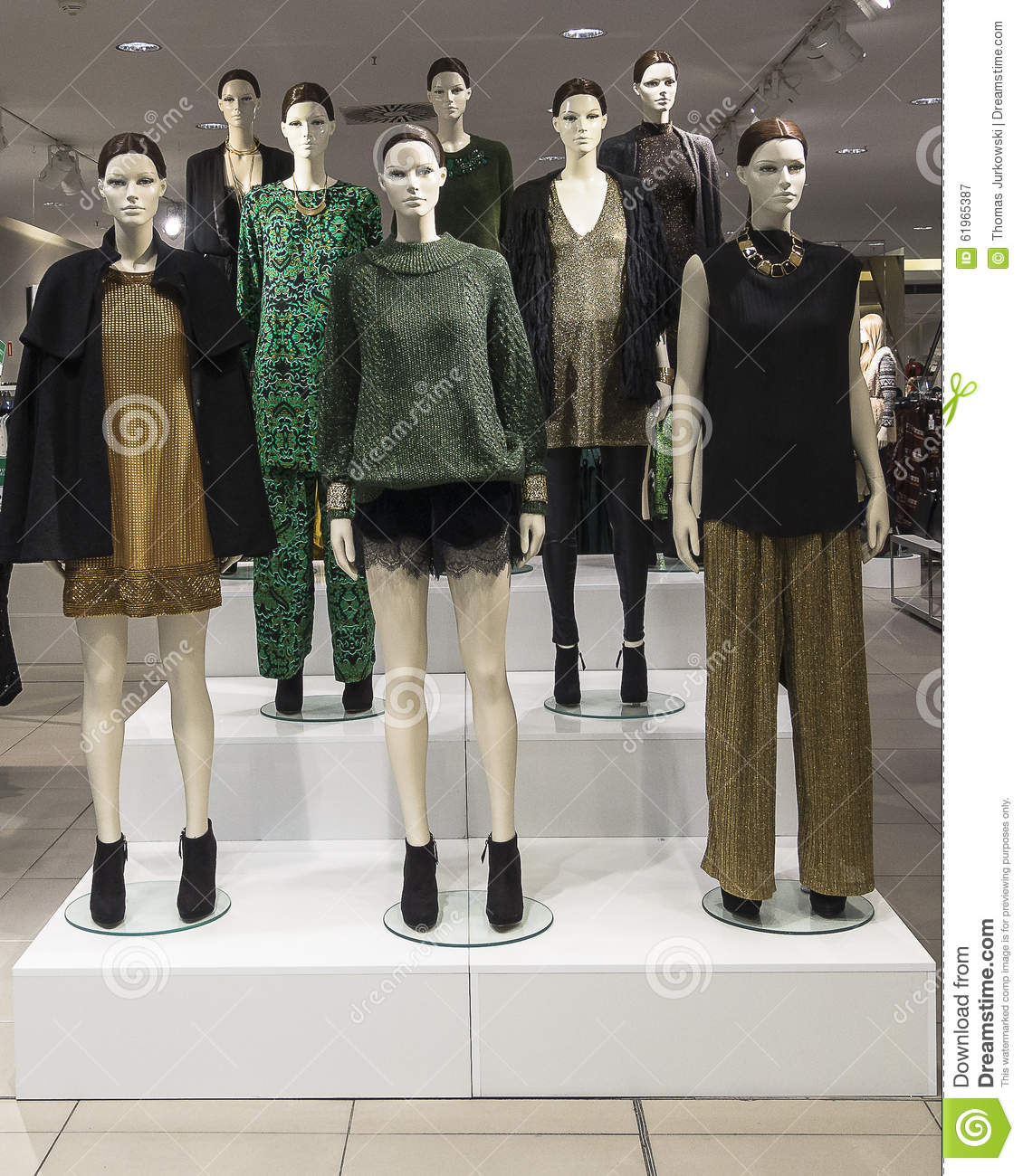 mannequins in a clothing store stock image image 61965387