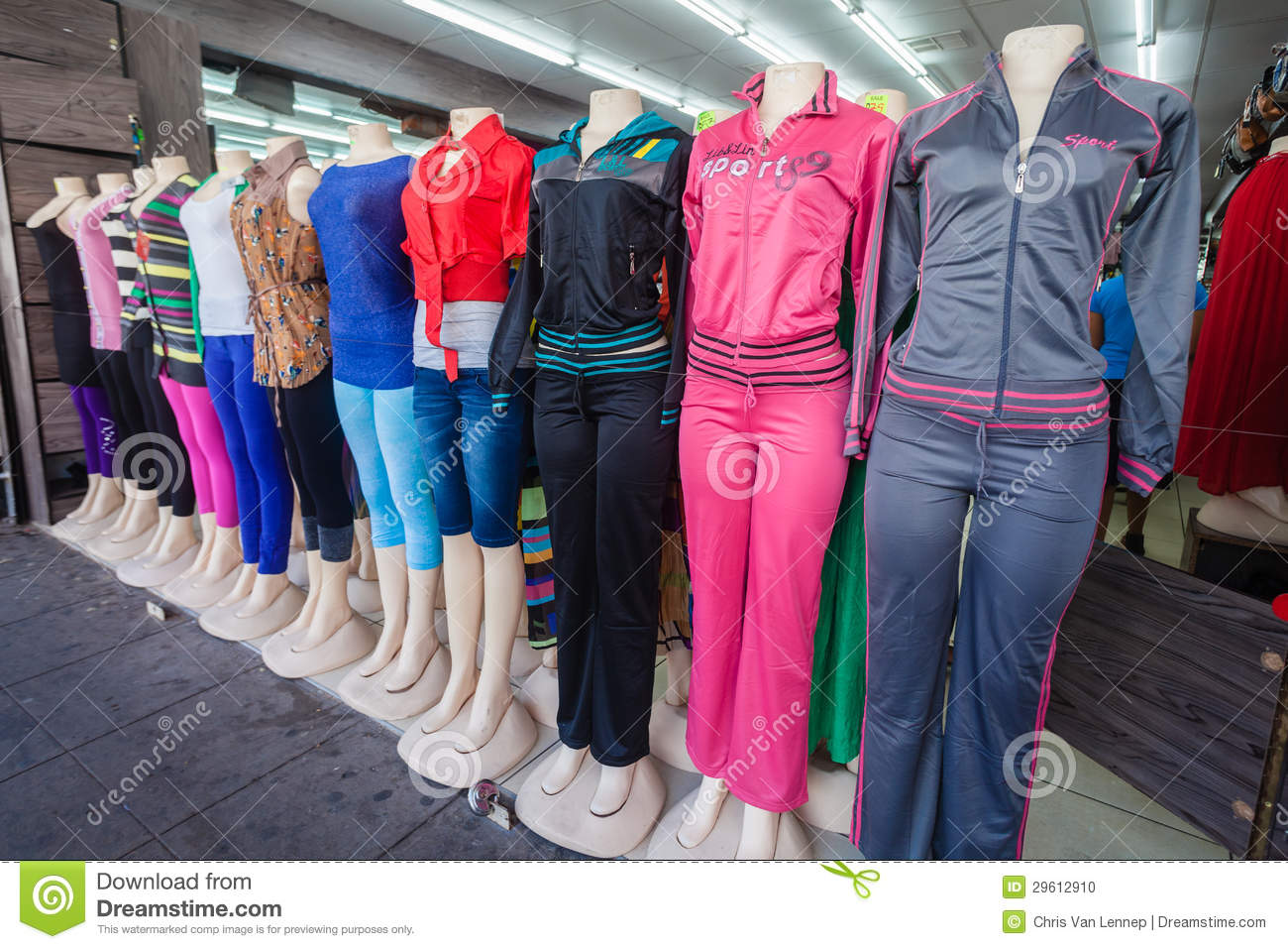 Mannequins Fashion Clothing Store Editorial Image