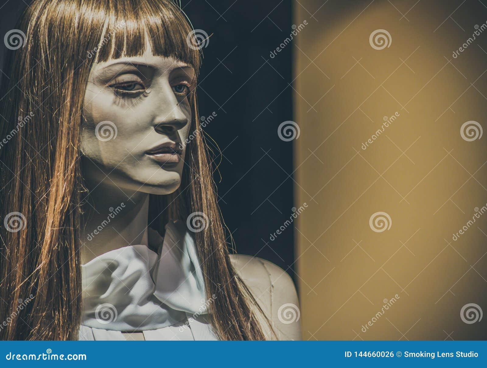 Mannequins dans les magasins poup?es