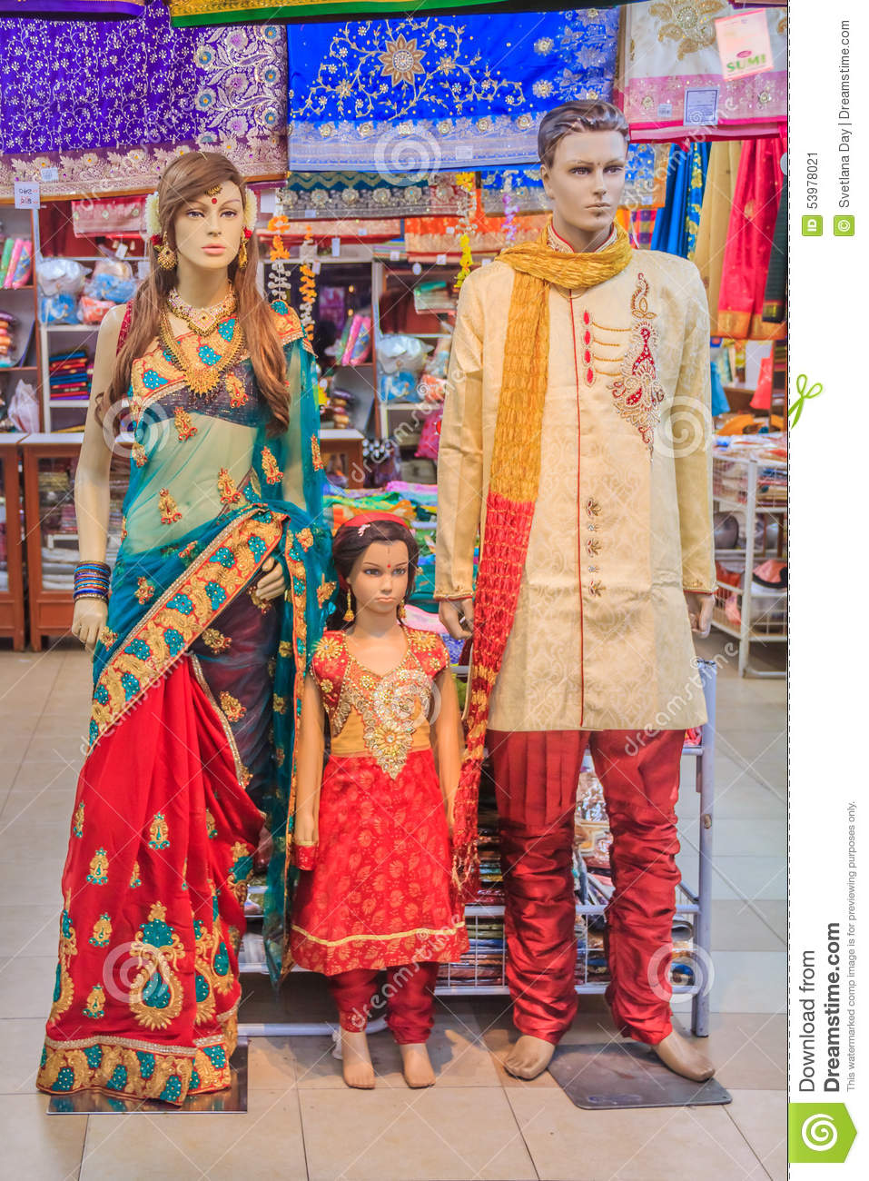 Mannequins Dressed In Indian Clothing Stock Image Image