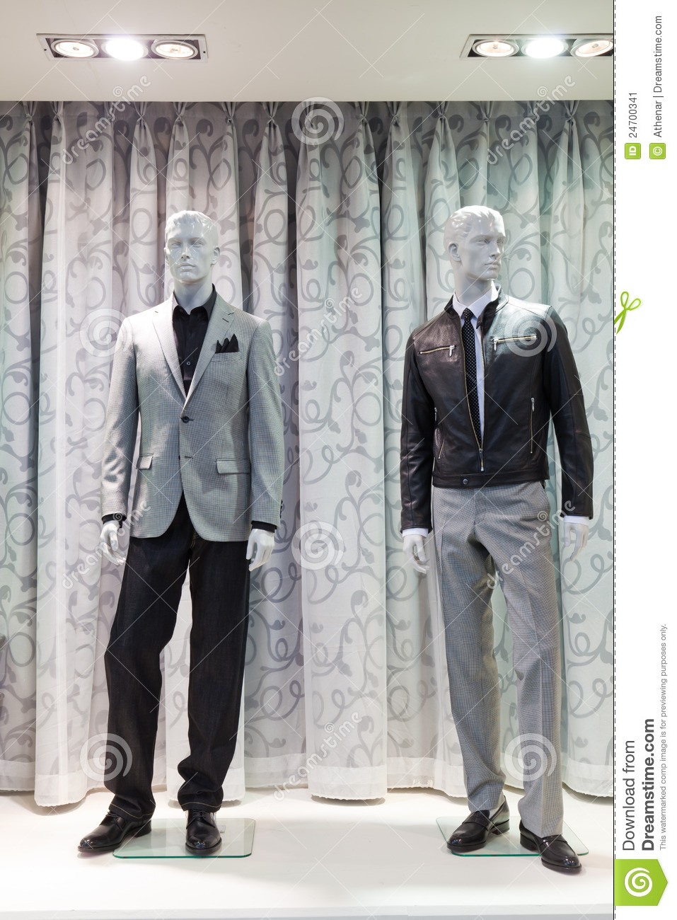 Mannequins In A Men Fashion Store Stock Image Image