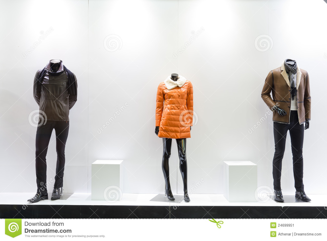 Mannequins In A Store Stock Image Image 24699951