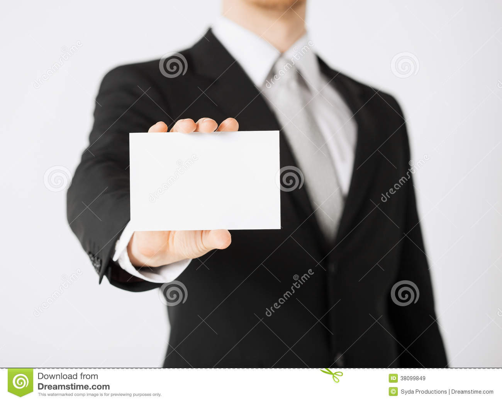 Mannhand mit leerem Papier