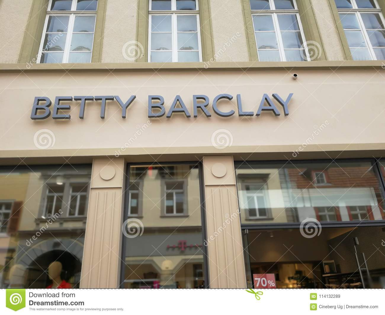 low priced d49a8 a0b5e Betty Barclay Store Signage Editorial Stock Image - Image of ...