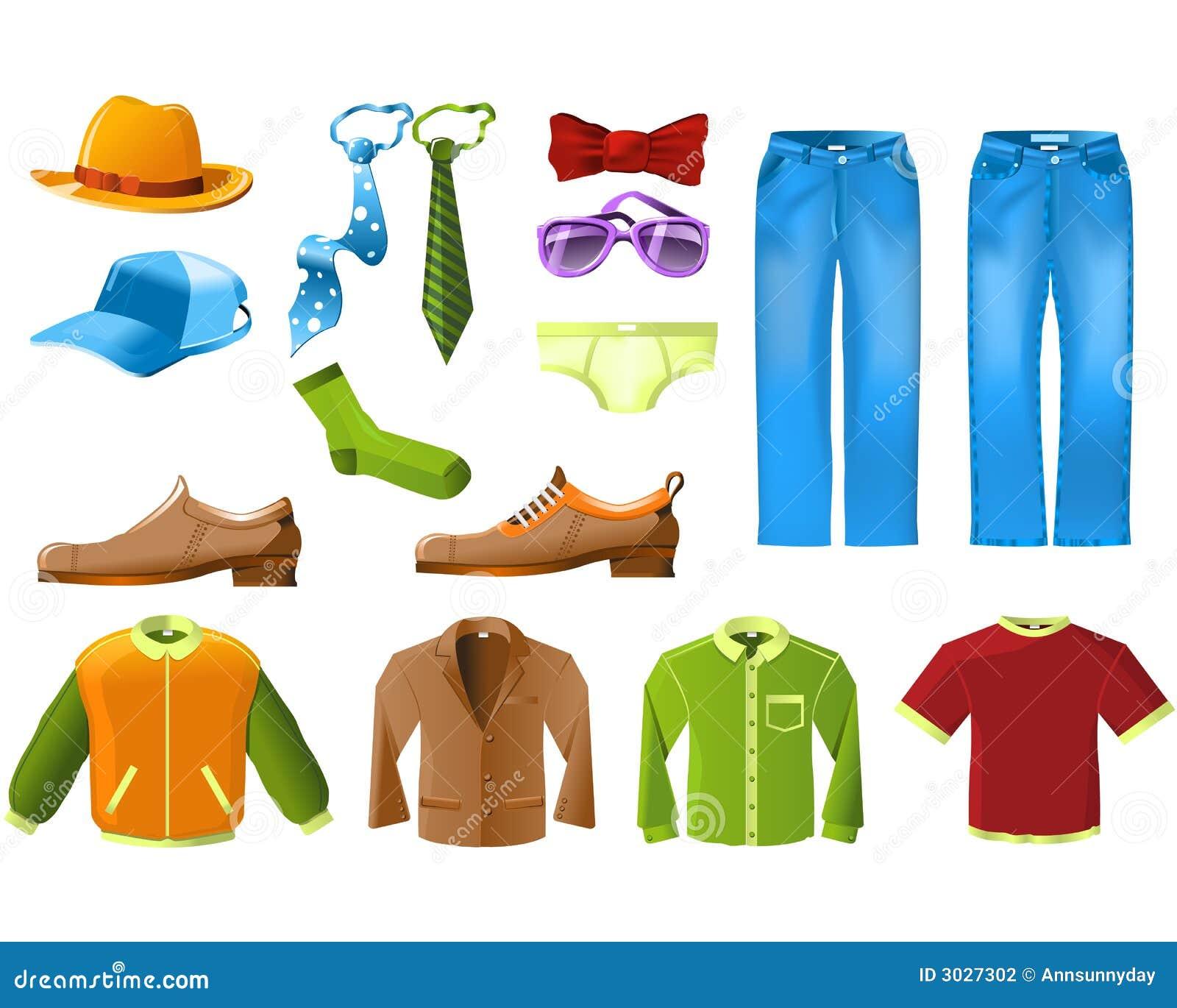Mannkleidung-Ikonenset