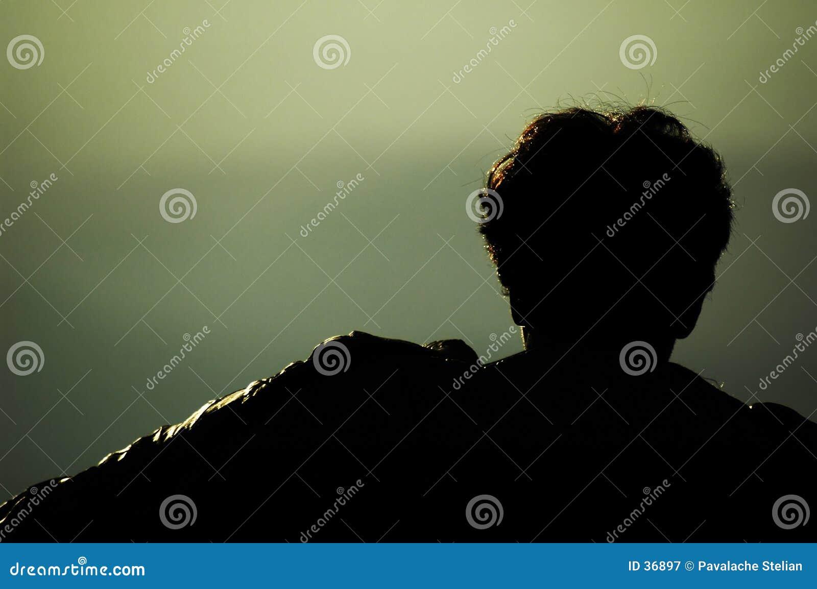 Mannkopf auf Bergen