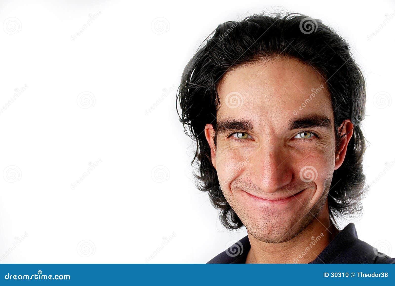 Mannlächeln