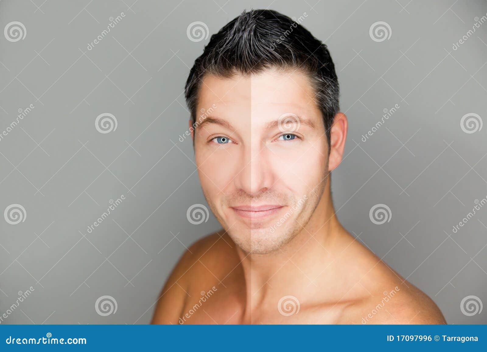 Mannschönheitshaut vergleichen