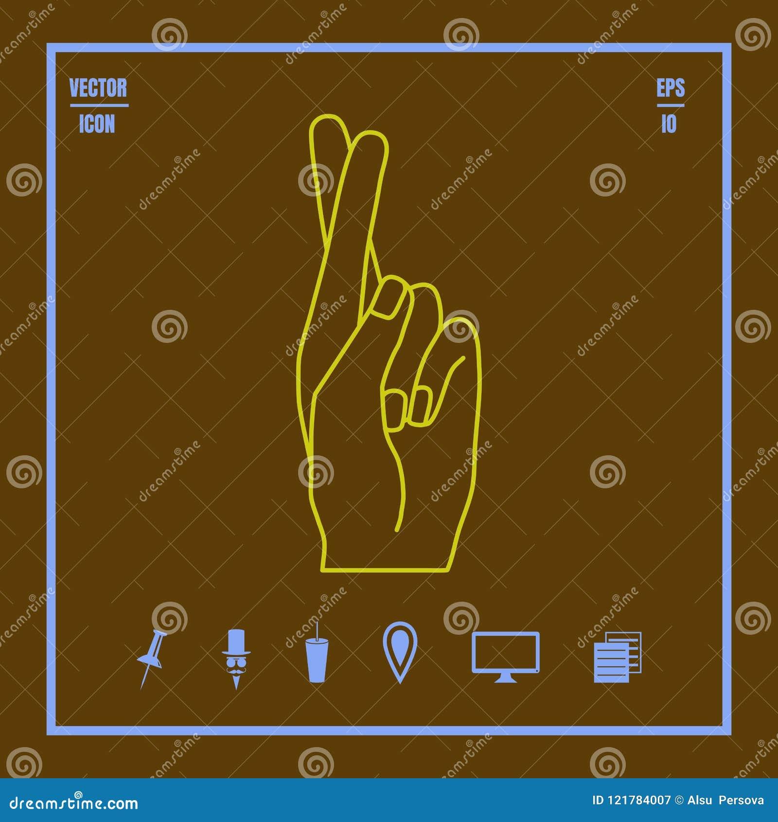 Mano che mostra le dita attraversate
